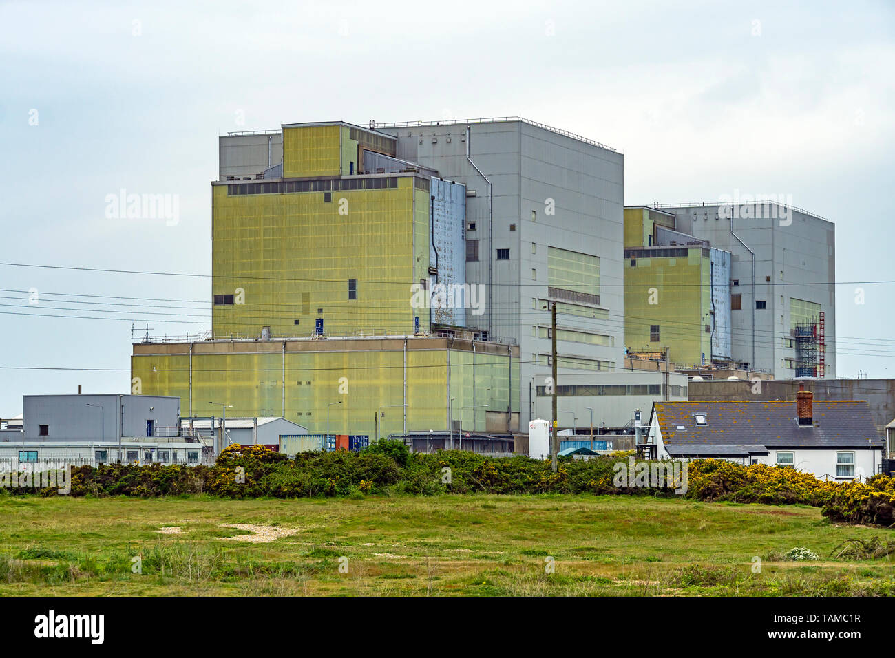 Dungeness nuclear power station in Dungeness Kent England UK - Stock Image