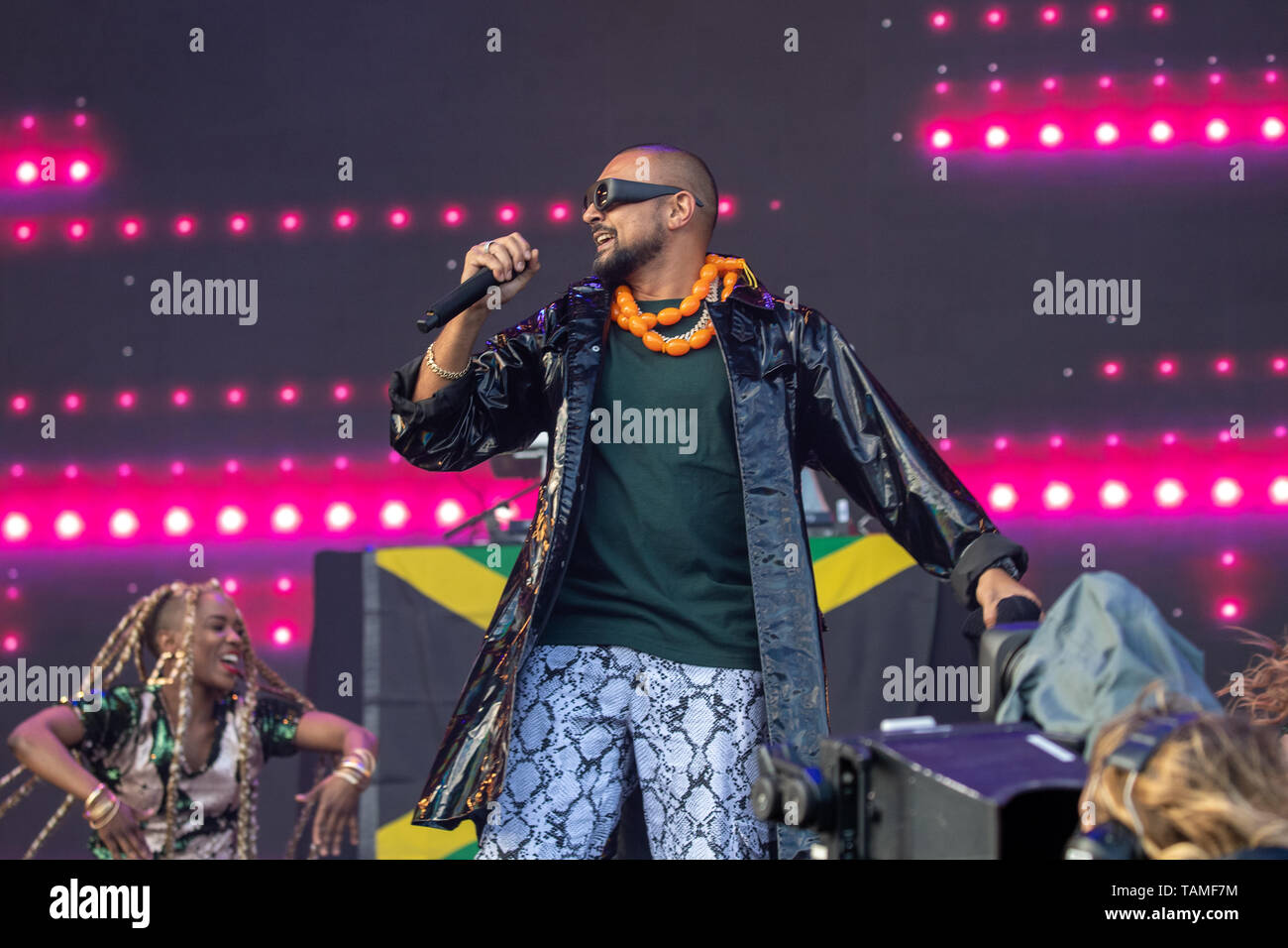 Middlesborough, UK  Sunday 26 May 2019  Sean Paul performs on Day 2