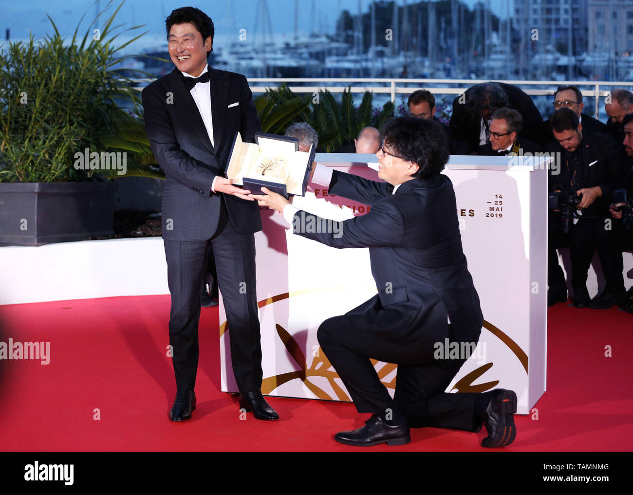 Cannes, France  25th May, 2019  South Korean director Bong Joon-Ho