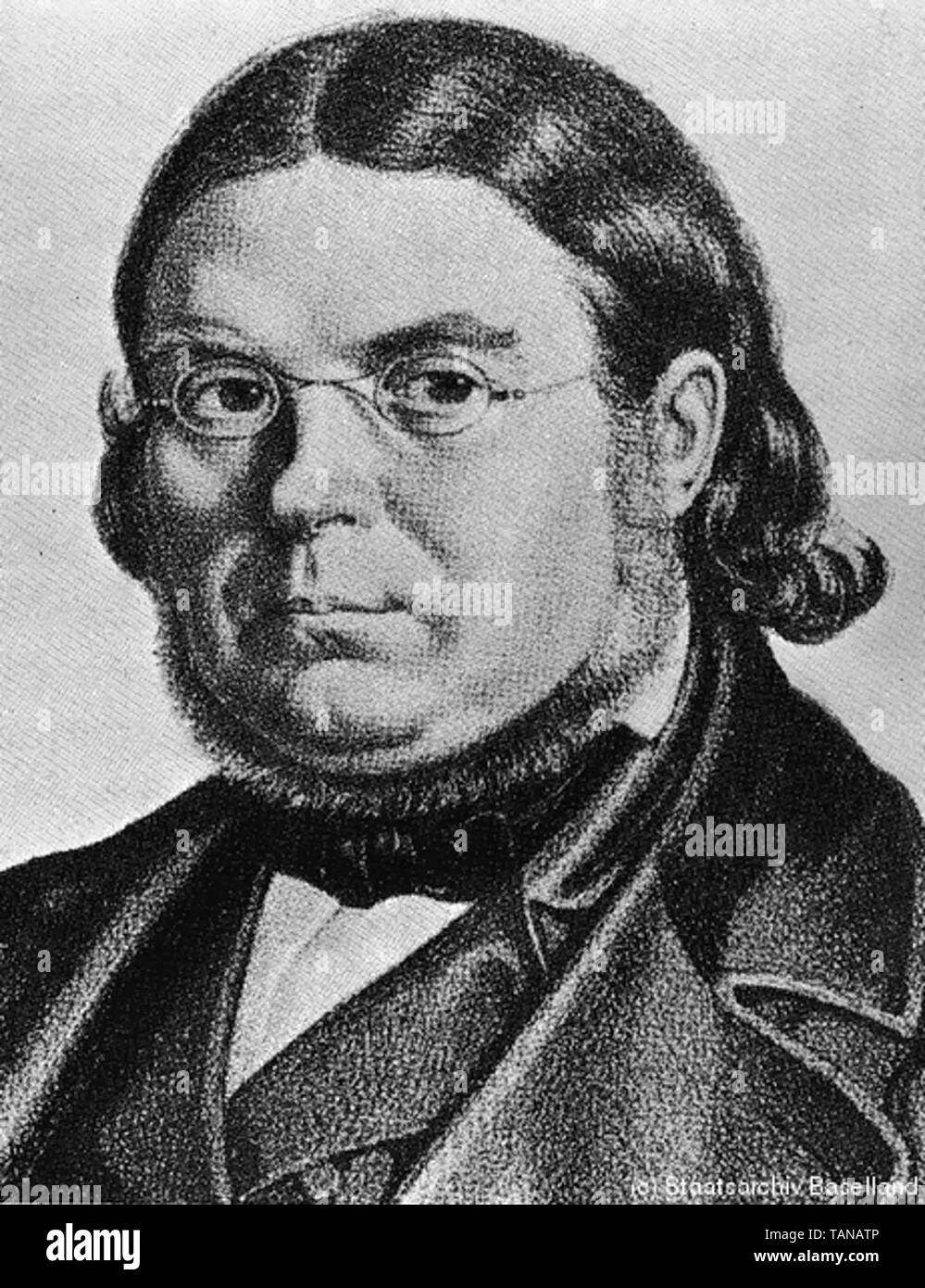 Georg Fein (1803–1869) was a German democratic journalist, an early German socialist and a liberal nationalist. He was a prominent publicist during the Vormärz period that preceded the Revolution of 1848. - Stock Image