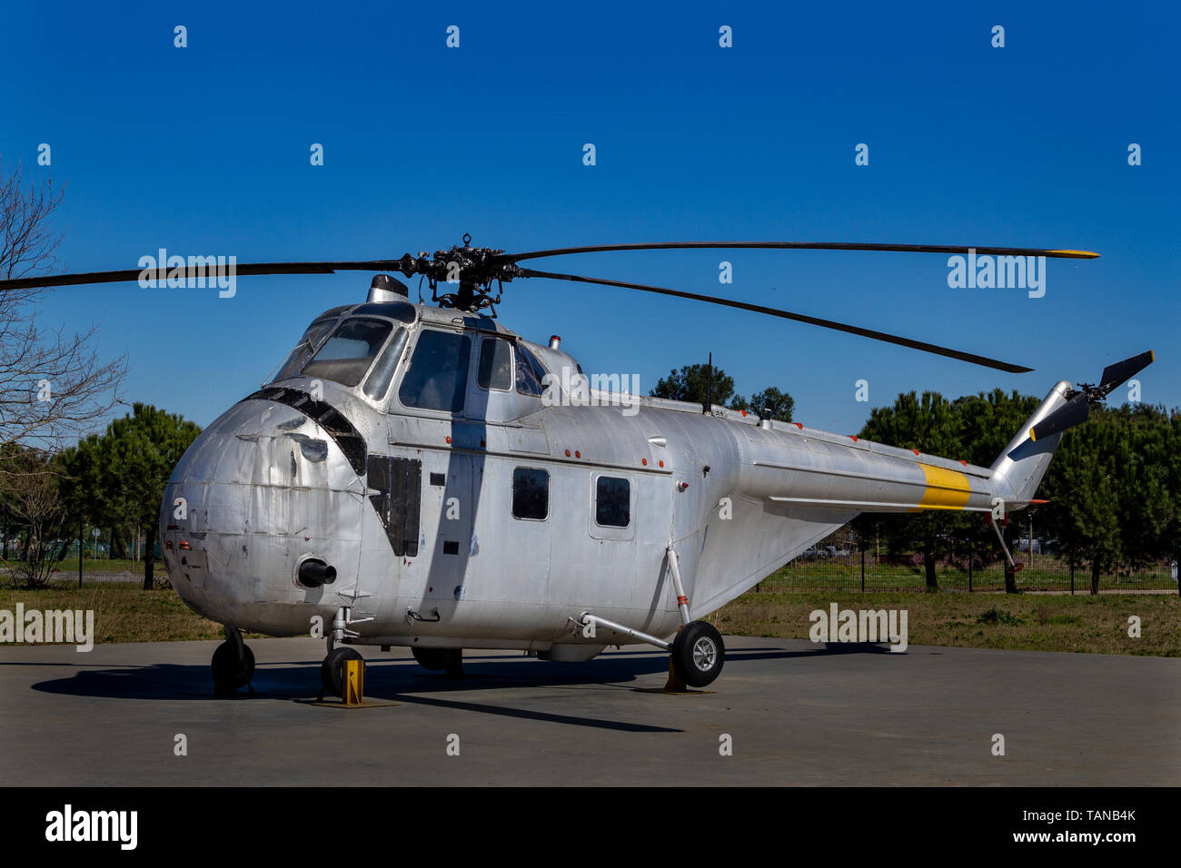 Old military helicopter - Stock Image