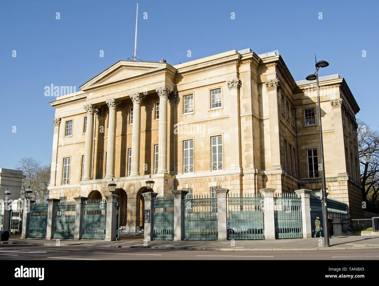 LONDON, UK - JANUARY 28, 2016: Facade of the former home of the first Duke of Wellington - Apsley House.  Also known as Number 1, London the mansion o - Stock Image