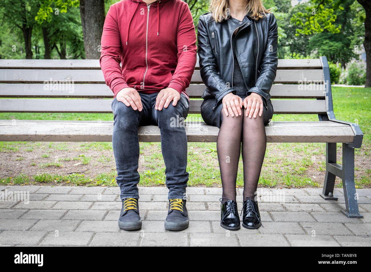 Relationship and body language concept - Stock Image
