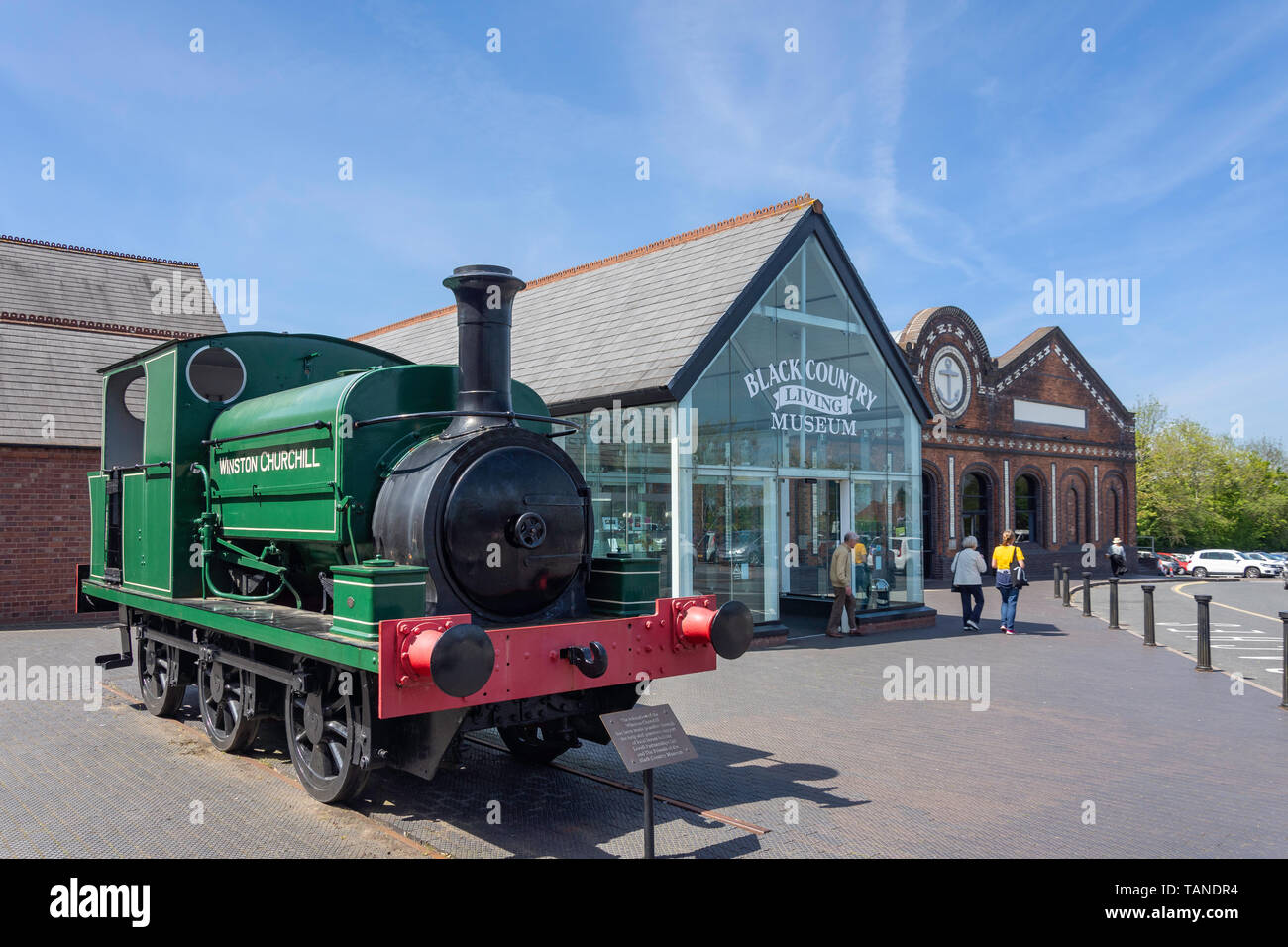 Entrance to Black Country Living Museum, on, Dudley, West Midlands, England, United Kingdom - Stock Image