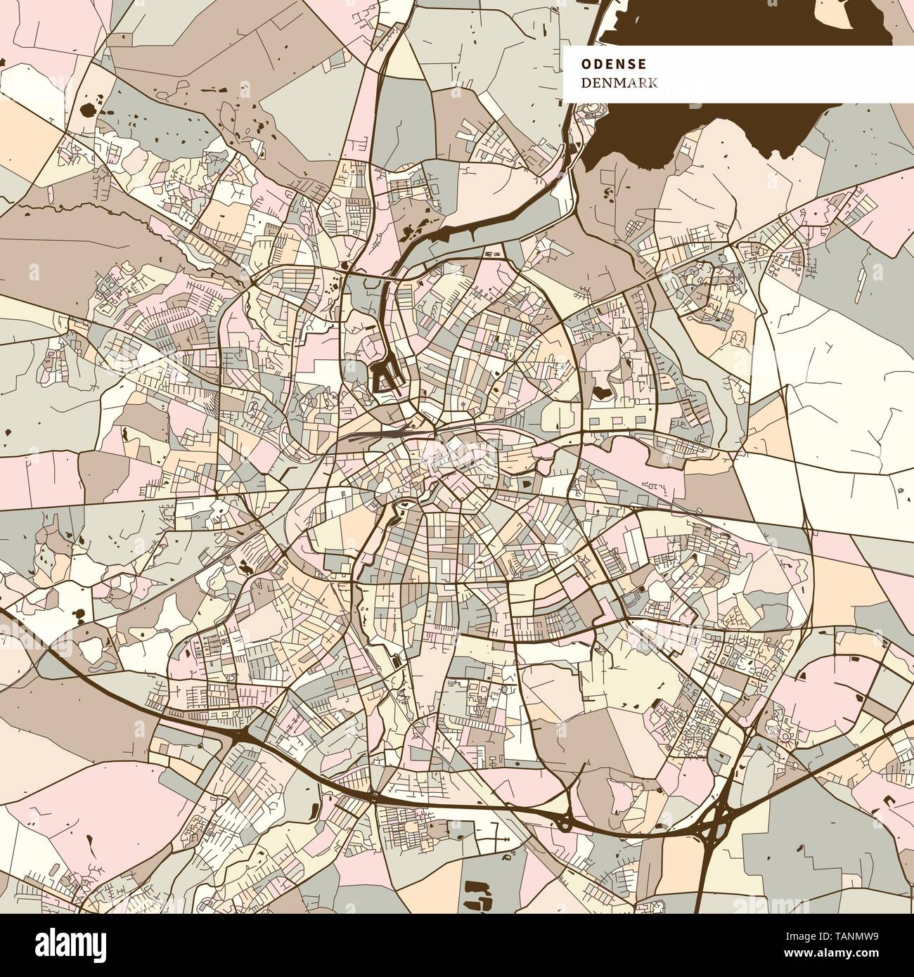 Image of: Odense Vector Map High Resolution Stock Photography And Images Alamy