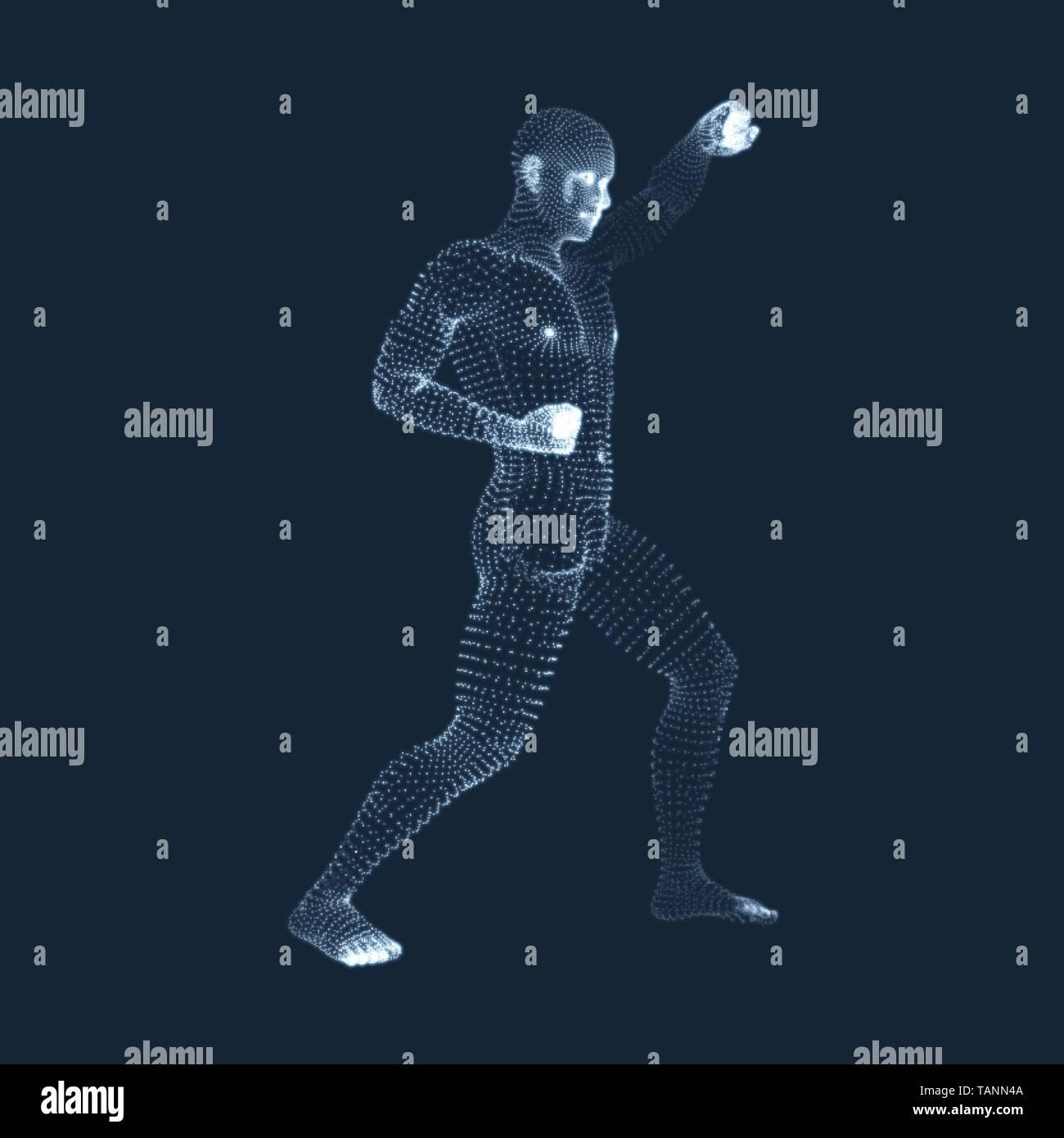 Fighting Man  3D Model of Man  Human Body Model  Body