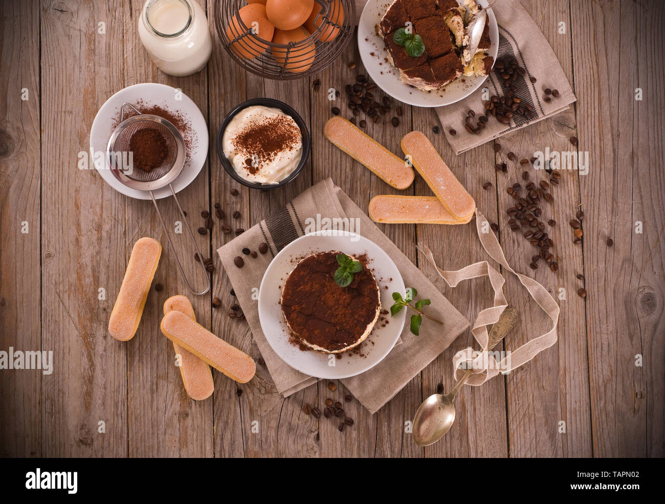 Tiramisu. - Stock Image