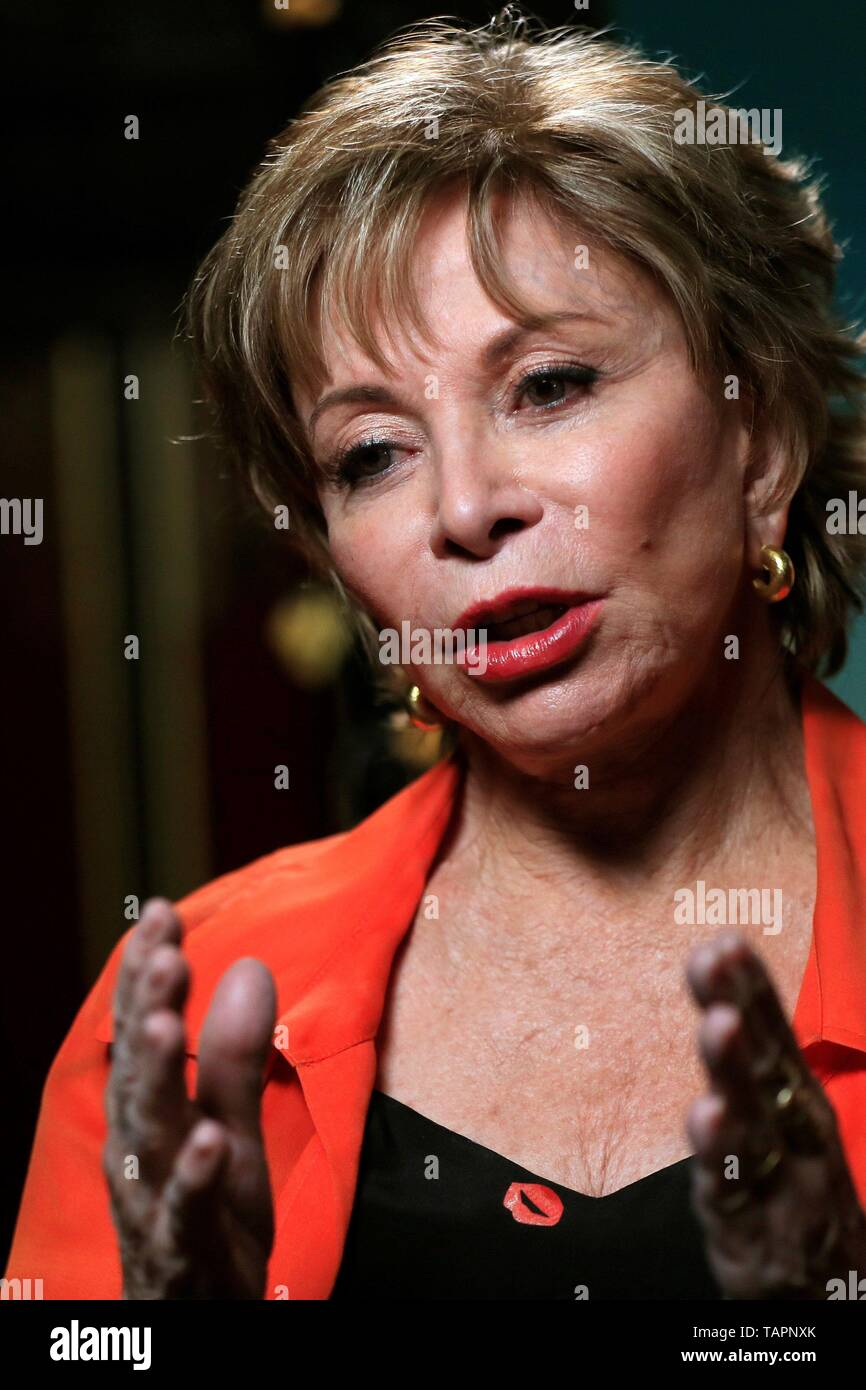 Madrid, Spain  27th May, 2019  Chilean writer Isabel Allende