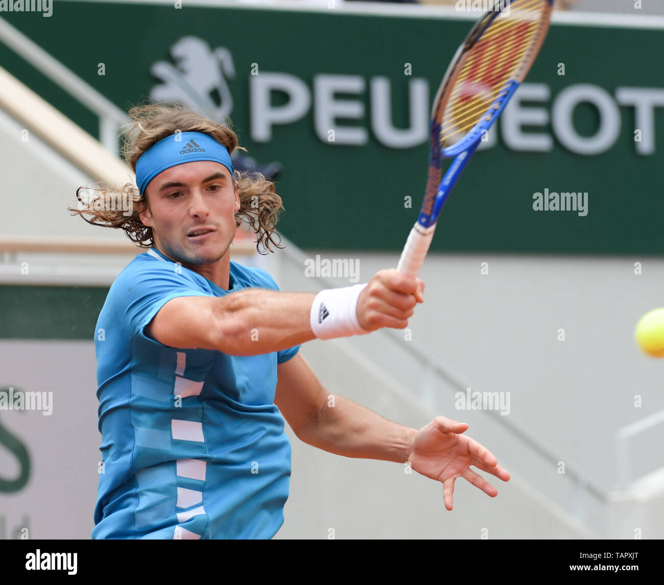 Paris  26th May, 2019  Stefanos Tsitsipas (GRE) defeated