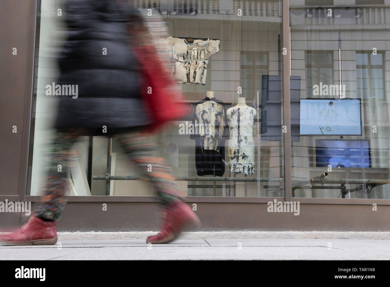 Berlin, Germany  05th May, 2019  A woman walks past a