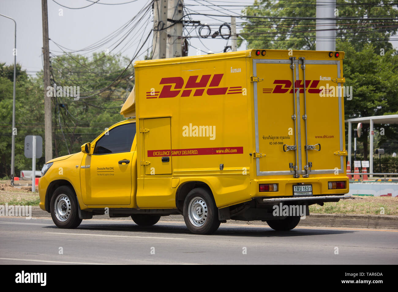 Dhl Pickup Locations >> Chiangmai Thailand May 17 2019 Dhl Express And Logistics