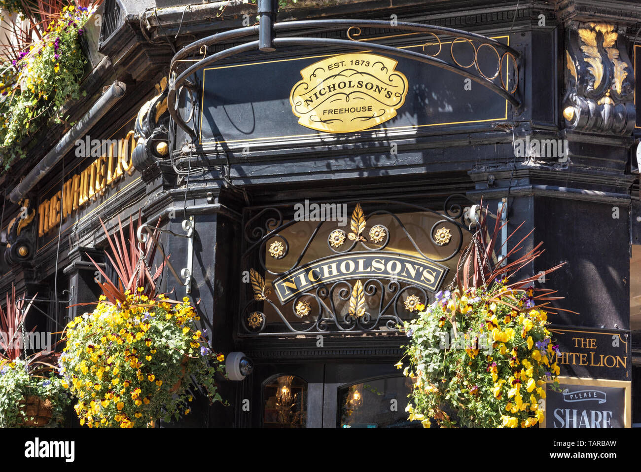 London, UK - May 14, 2019: Typical English pub at Covent Garden district . Stock Photo
