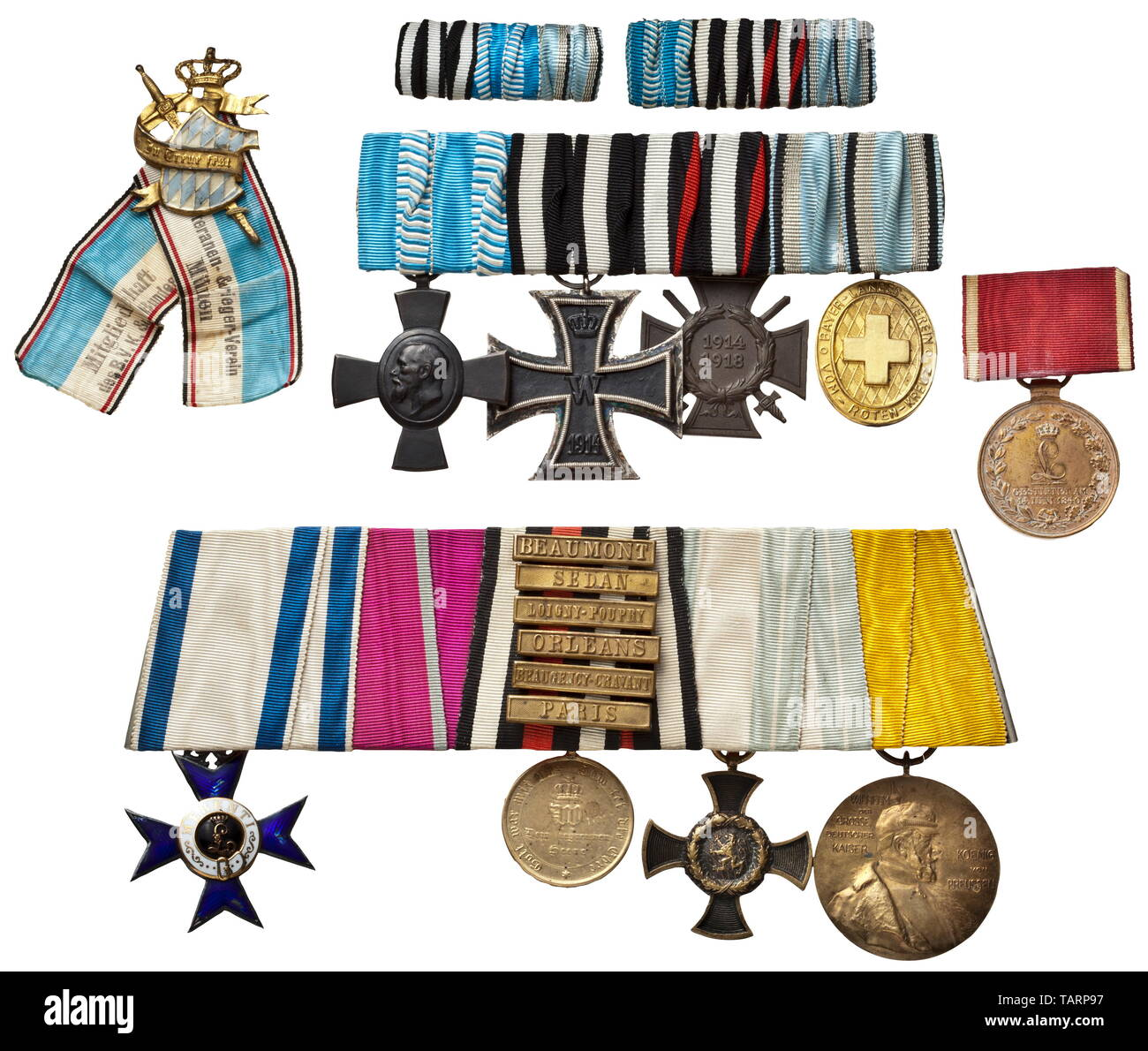 An orders clasp of a long-serving veteran of the 1866 and 1870/71