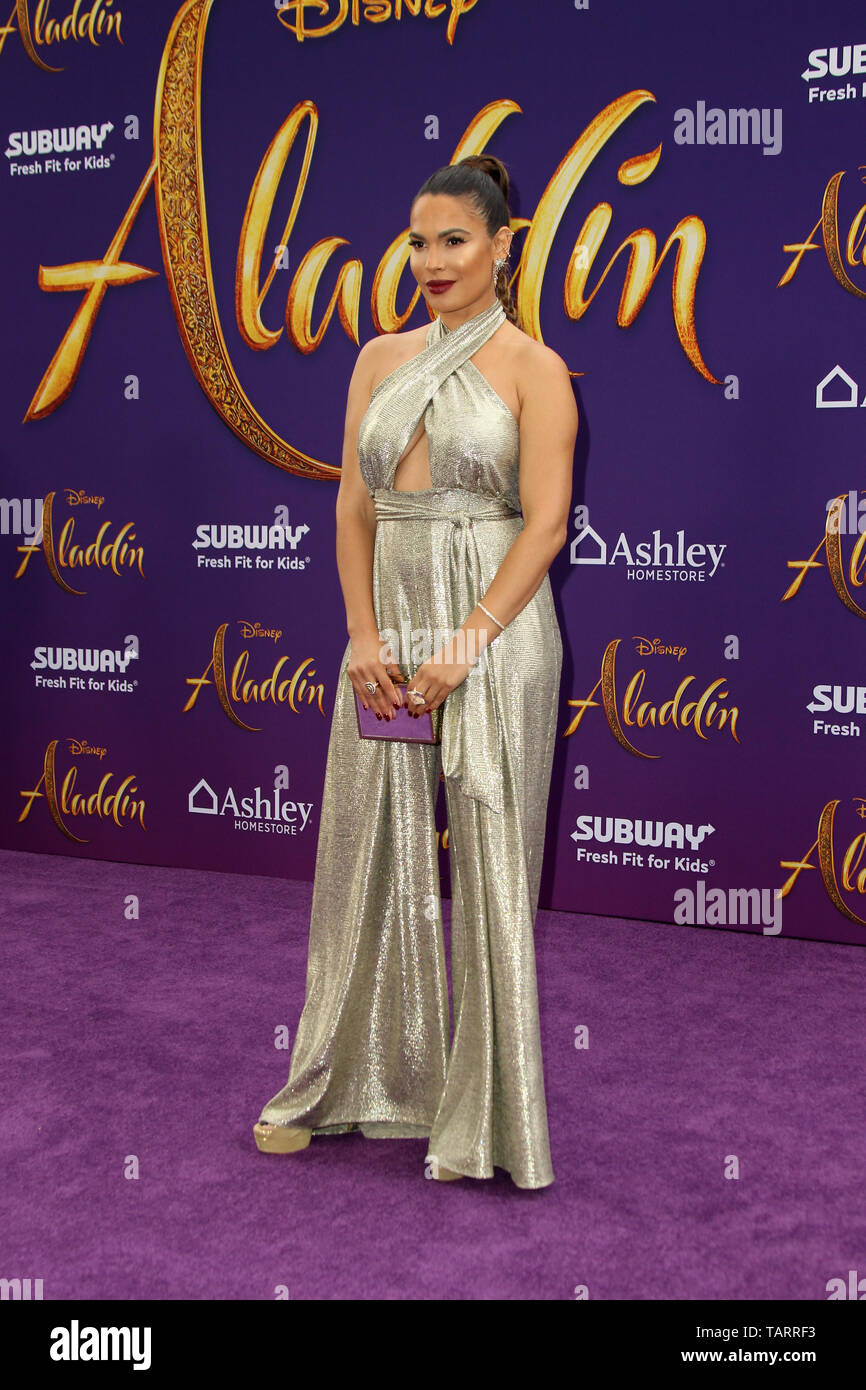 May 21, 2019 - Los Angeles, CA, USA - LOS ANGELES - MAY 21:  Nadine Velazquez at the ''Aladdin'' Premiere at the El Capitan Theater on May 21, 2019 in Los Angeles, CA (Credit Image: © Kay Blake/ZUMA Wire) - Stock Image