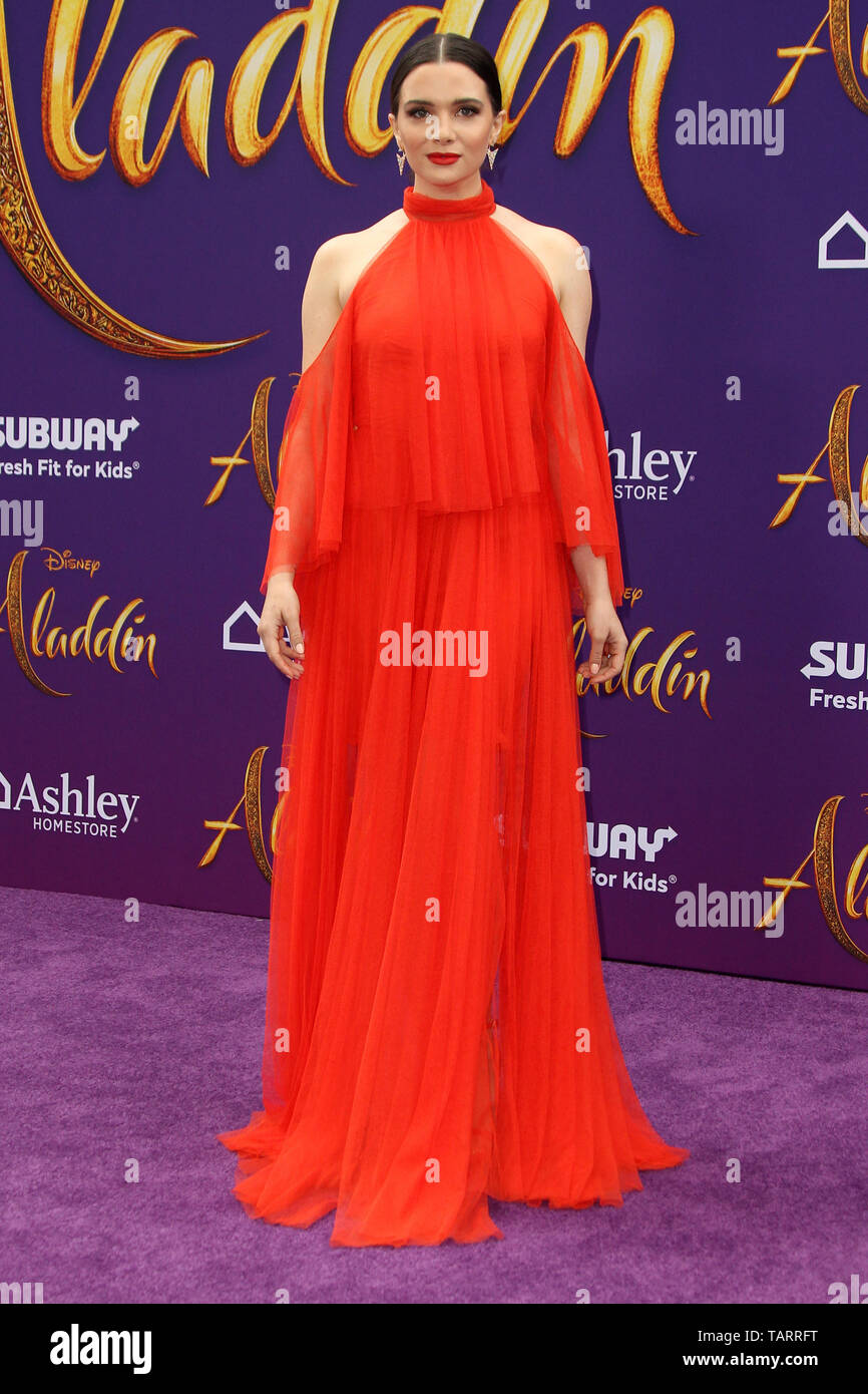May 21, 2019 - Los Angeles, CA, USA - LOS ANGELES - MAY 21:  Katie Stevens at the ''Aladdin'' Premiere at the El Capitan Theater on May 21, 2019 in Los Angeles, CA (Credit Image: © Kay Blake/ZUMA Wire) - Stock Image