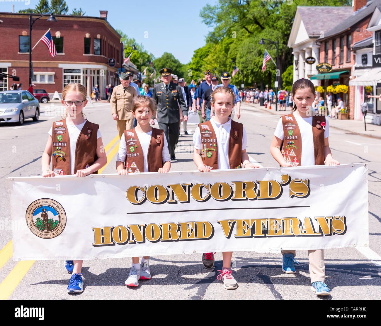 Memorial Day Parade Banner Stock Photos & Memorial Day
