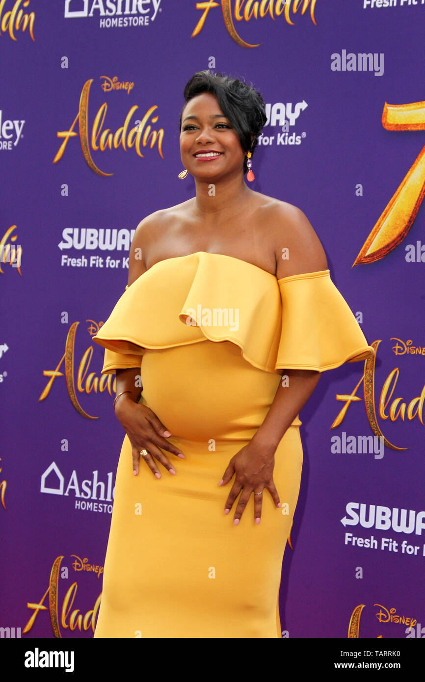 May 21, 2019 - Los Angeles, CA, USA - LOS ANGELES - MAY 21:  Tatyana Ali at the ''Aladdin'' Premiere at the El Capitan Theater on May 21, 2019 in Los Angeles, CA (Credit Image: © Kay Blake/ZUMA Wire) - Stock Image
