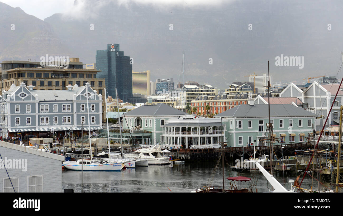 The vibrant water front area in Cape Town, South Africa. - Stock Image