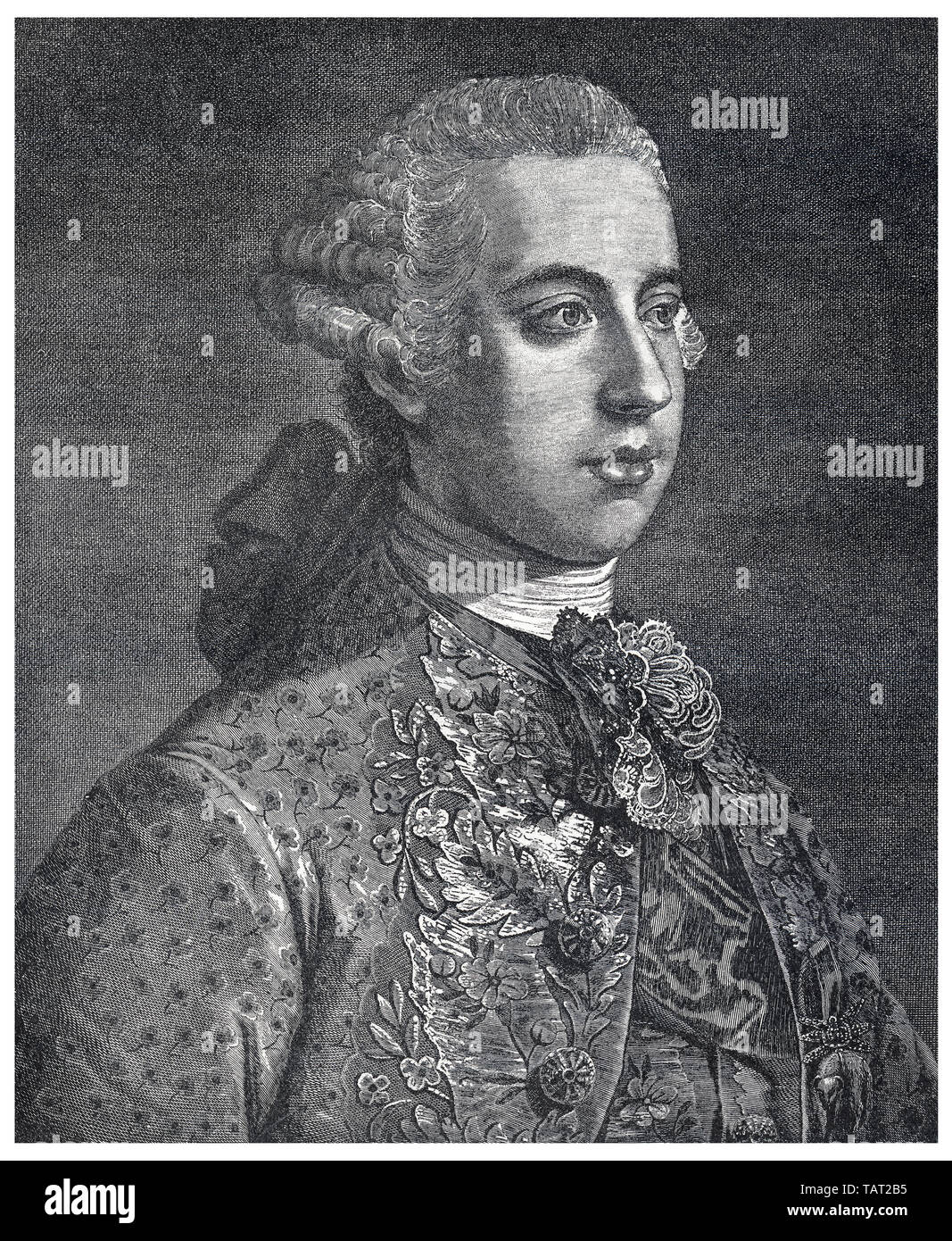 Joseph II, 1741-1790, Holy Roman Emperor from 1765 to 1790 - Stock Image