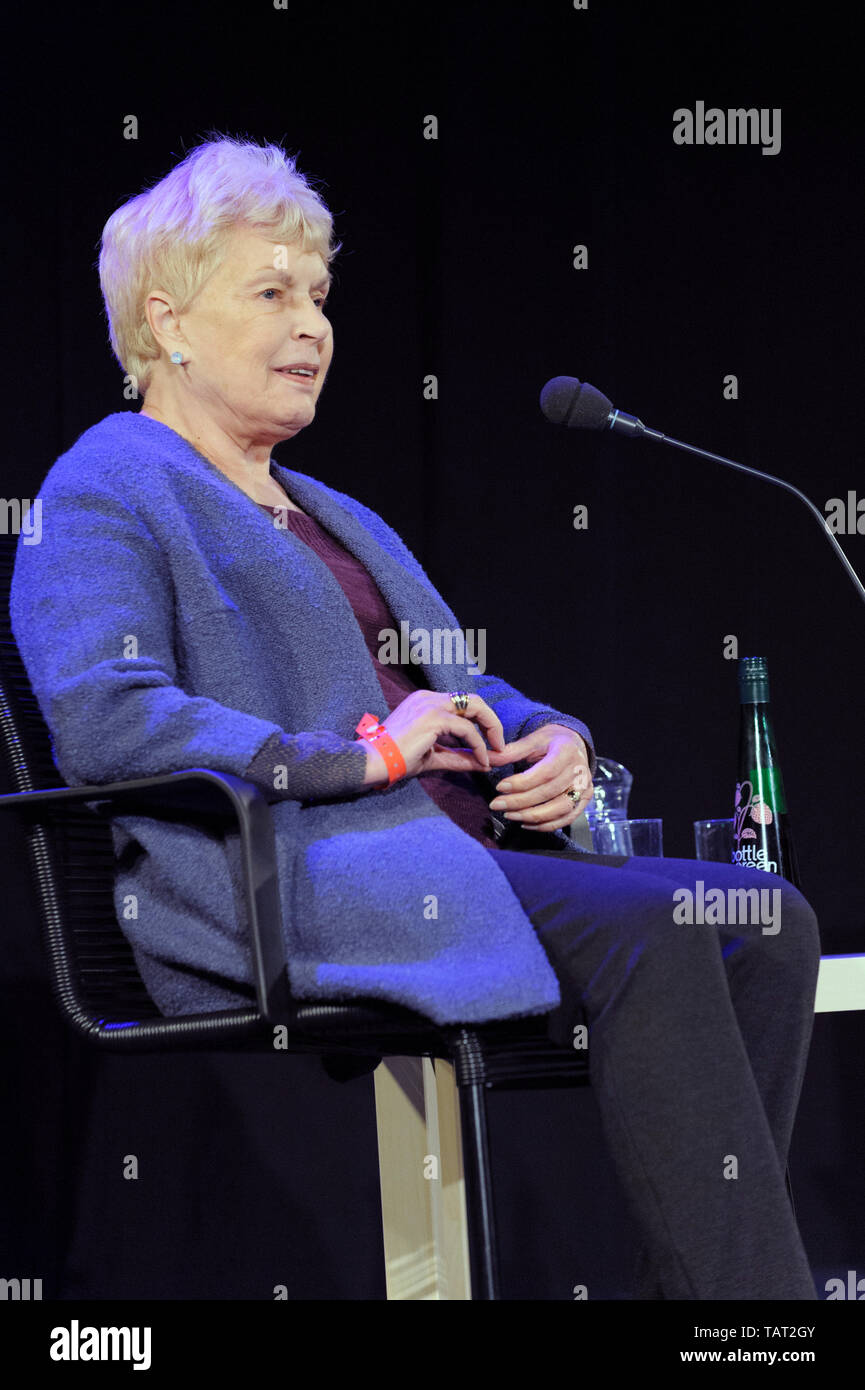 English author of thrillers and psychological murder Ruth Rendell, Baroness Rendell of Babergh, the Cheltenham Literature Festival, October 12, 2014 - Stock Image