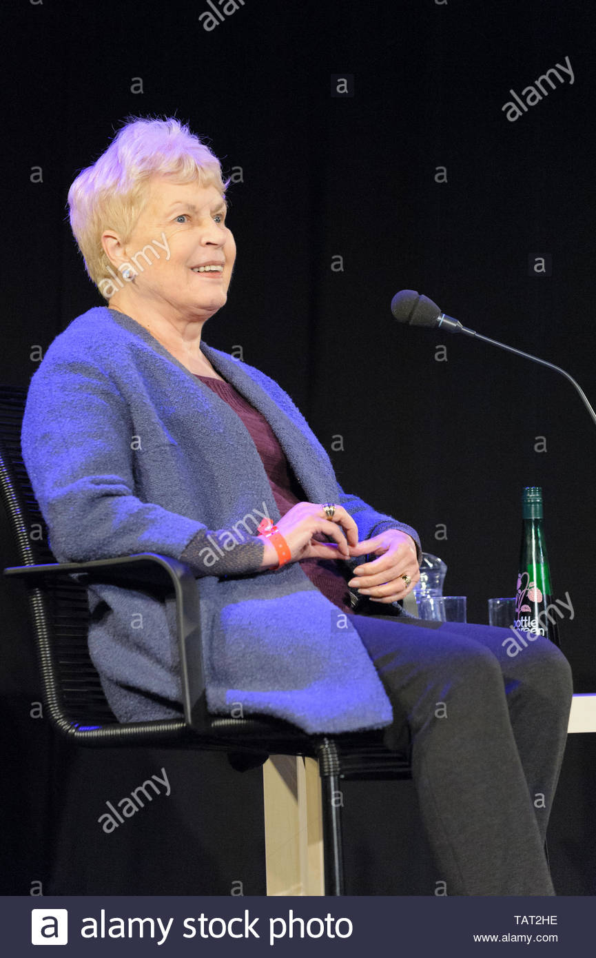English author of thrillers and psychological murder Ruth Rendell, Baroness Rendell of Babergh, at the Cheltenham Literature Festival, October 12, 201 - Stock Image