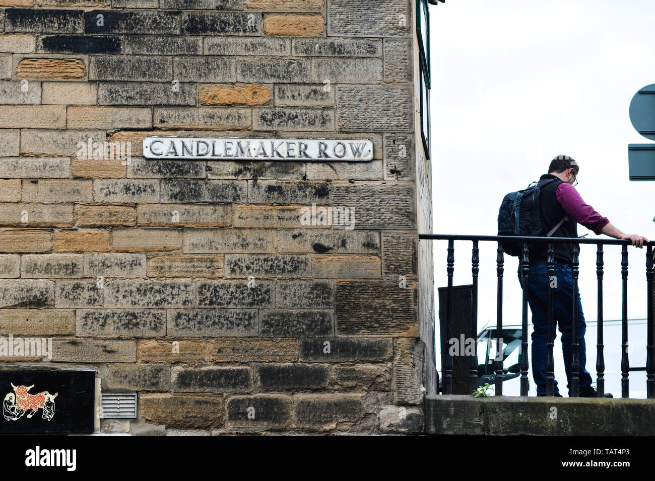 Everyday life in the city of Edinburgh is the capital of Scotland an old city in the heart of Scotland it has many tourist attractions Stock Photo