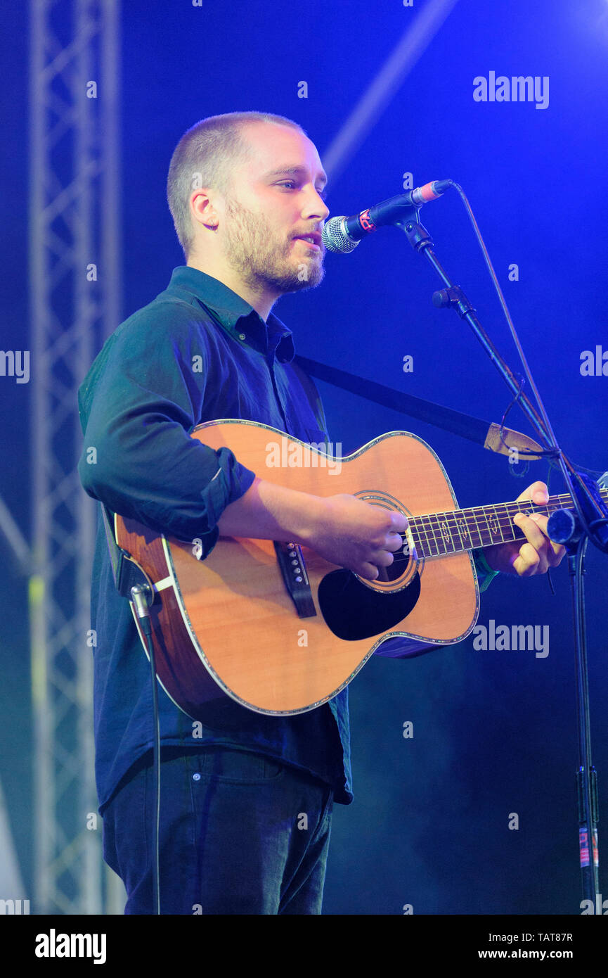 Adam Holmes of Rura performing at the Wickham Festival, UK. August 17, 2014 - Stock Image