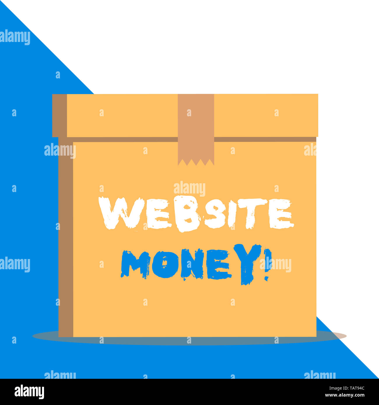 Text sign showing Website Money. Business photo showcasing Refers to the website we want to promote Where money is earned - Stock Image