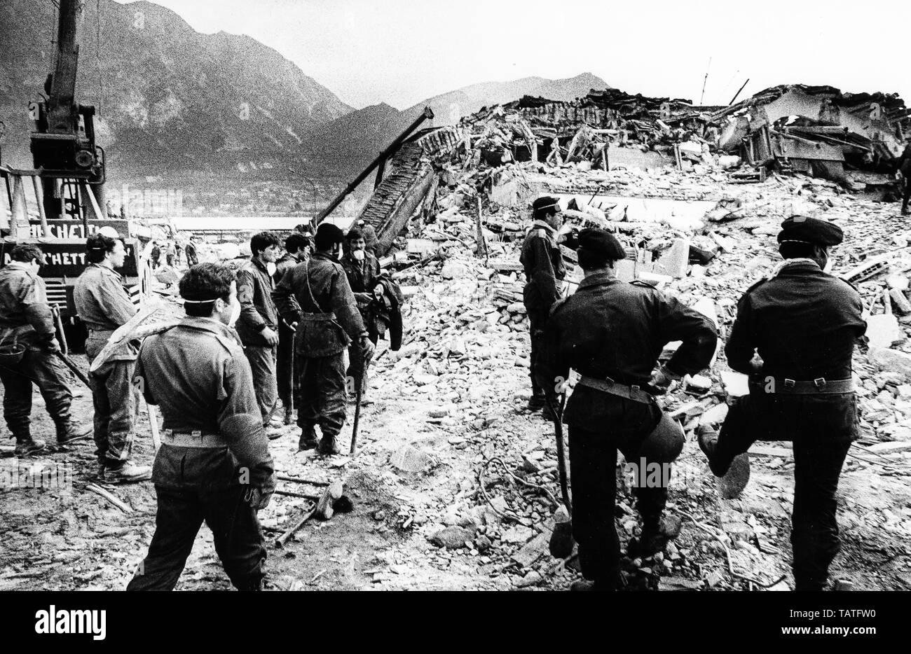 earthquake, friuli, 1976 - Stock Image