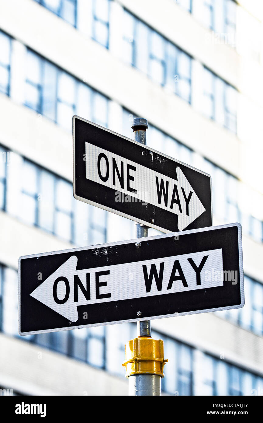 One Way Road Sign Stock Photos & One Way Road Sign Stock
