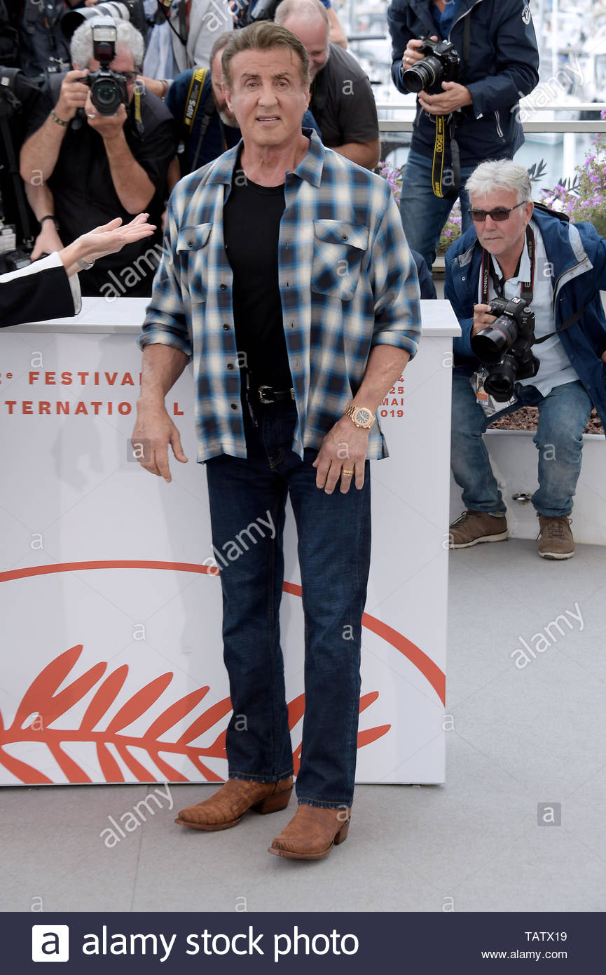 Sylvester Stallone Cannes, 24-05-2019 72nd Cannes Film Festival - Stock Image