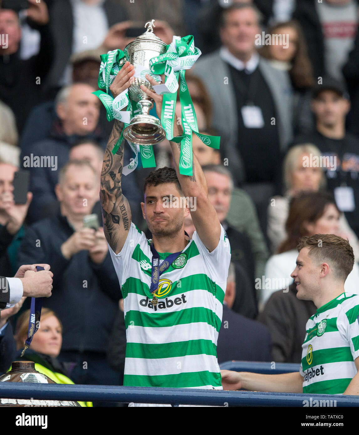 Celtic Nir Bitton    during the William Hill Scottish Cup Final at Hampden Park, Glasgow - Stock Image