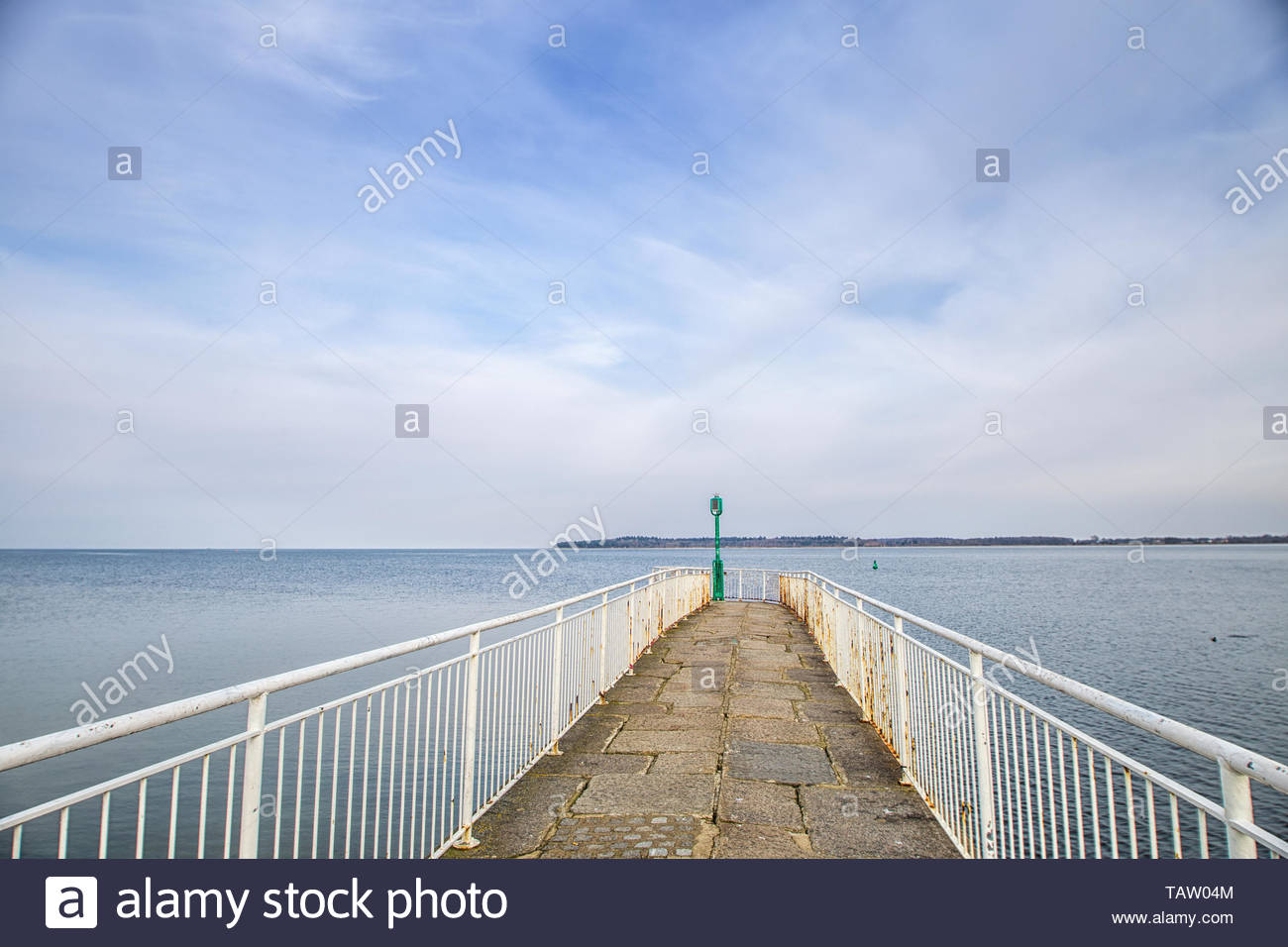 View to the sea from the mole in Greifswald, Germany - Stock Image
