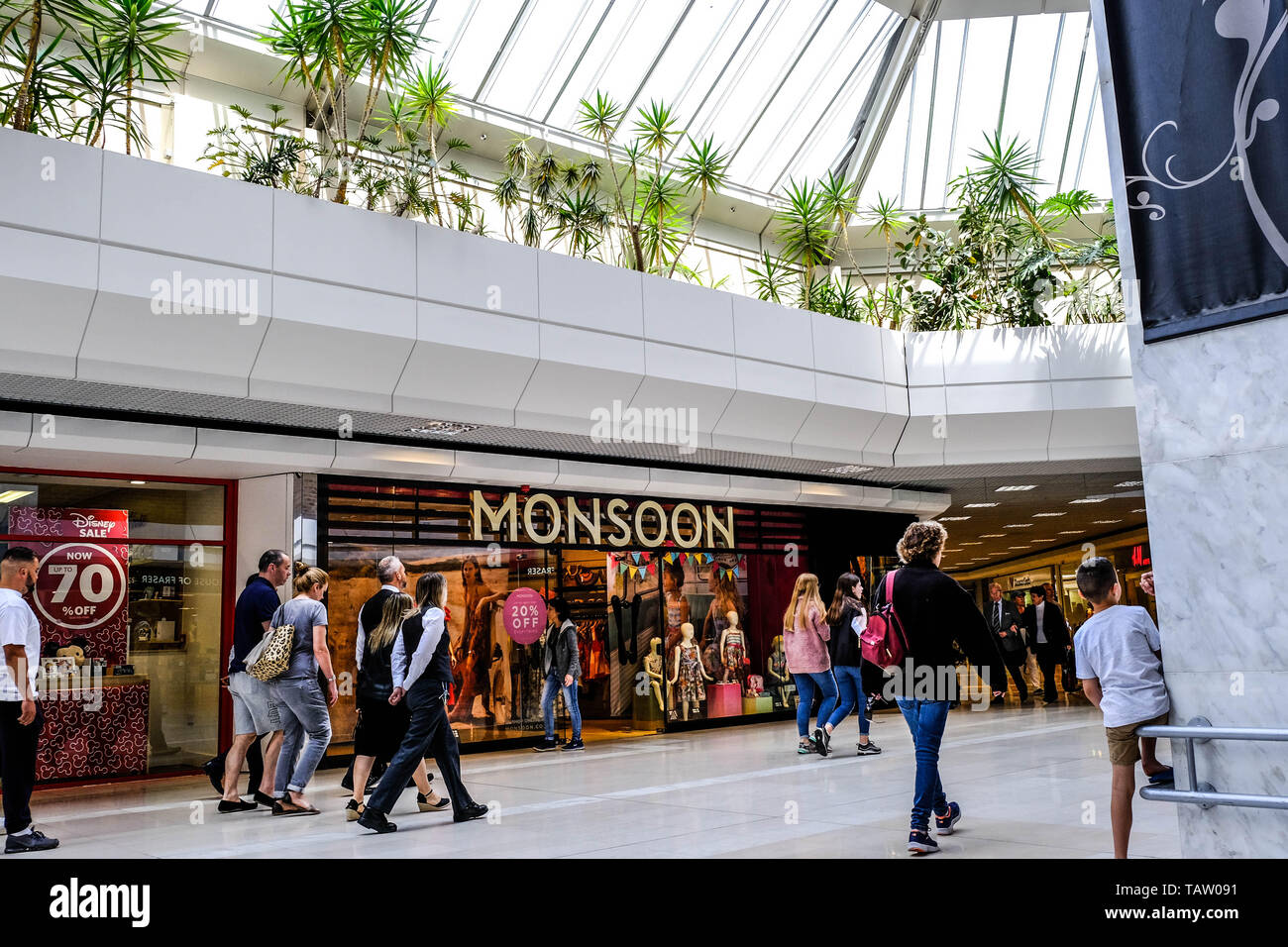 High Street Retail Chain Monsoon and Accessorize Sees Founder Peter Simon Pledge Upto £34 million To Support The Retail Chain In May 2019 In Return Fo - Stock Image