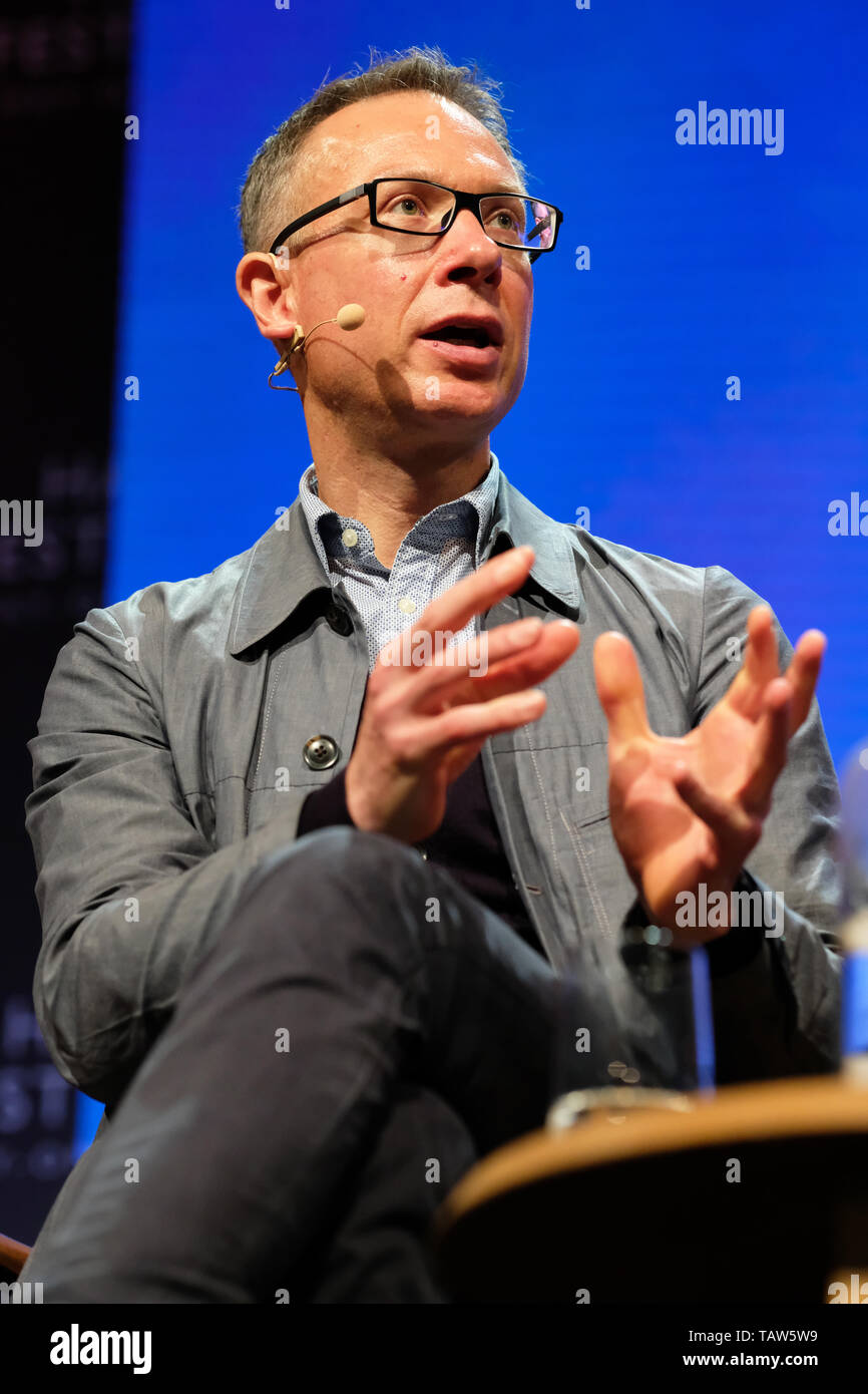 Hay Festival, Hay on Wye, Powys, Wales, UK - Tuesday 28th May 2019 - Author Bart van Es on stage at the Hay Festival talking about his book The Cut Out Girl - A Story of War and Family, Lost and Found. Photo Steven May / Alamy Live News - Stock Image