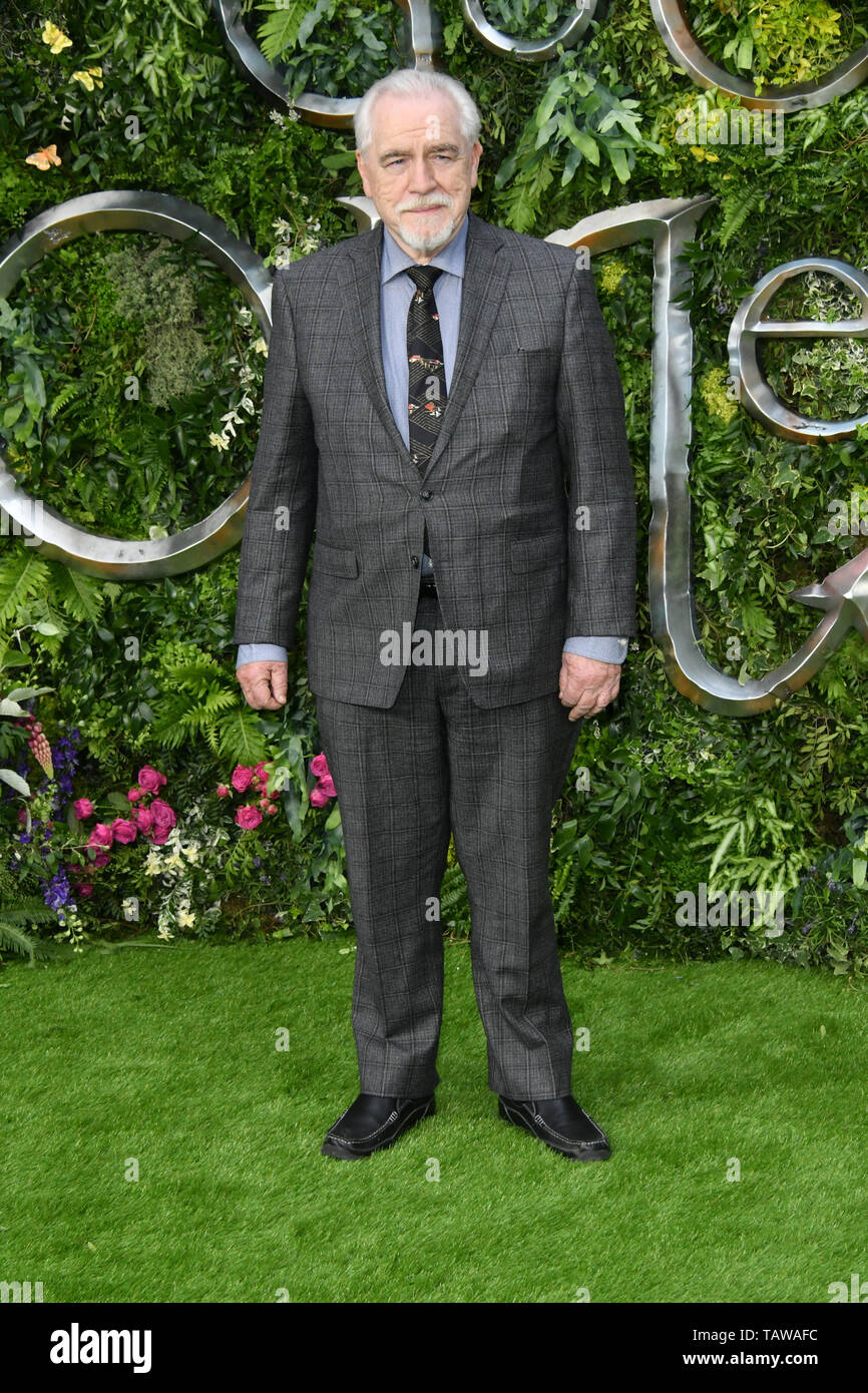 London, UK. 28th May, 2019. Good Omens TV premiere, London, UK Brian Cox attends Premiere of Good Omens at the Odeon Luxe Leicester Square. Credit: Nils Jorgensen/Alamy Live News - Stock Image