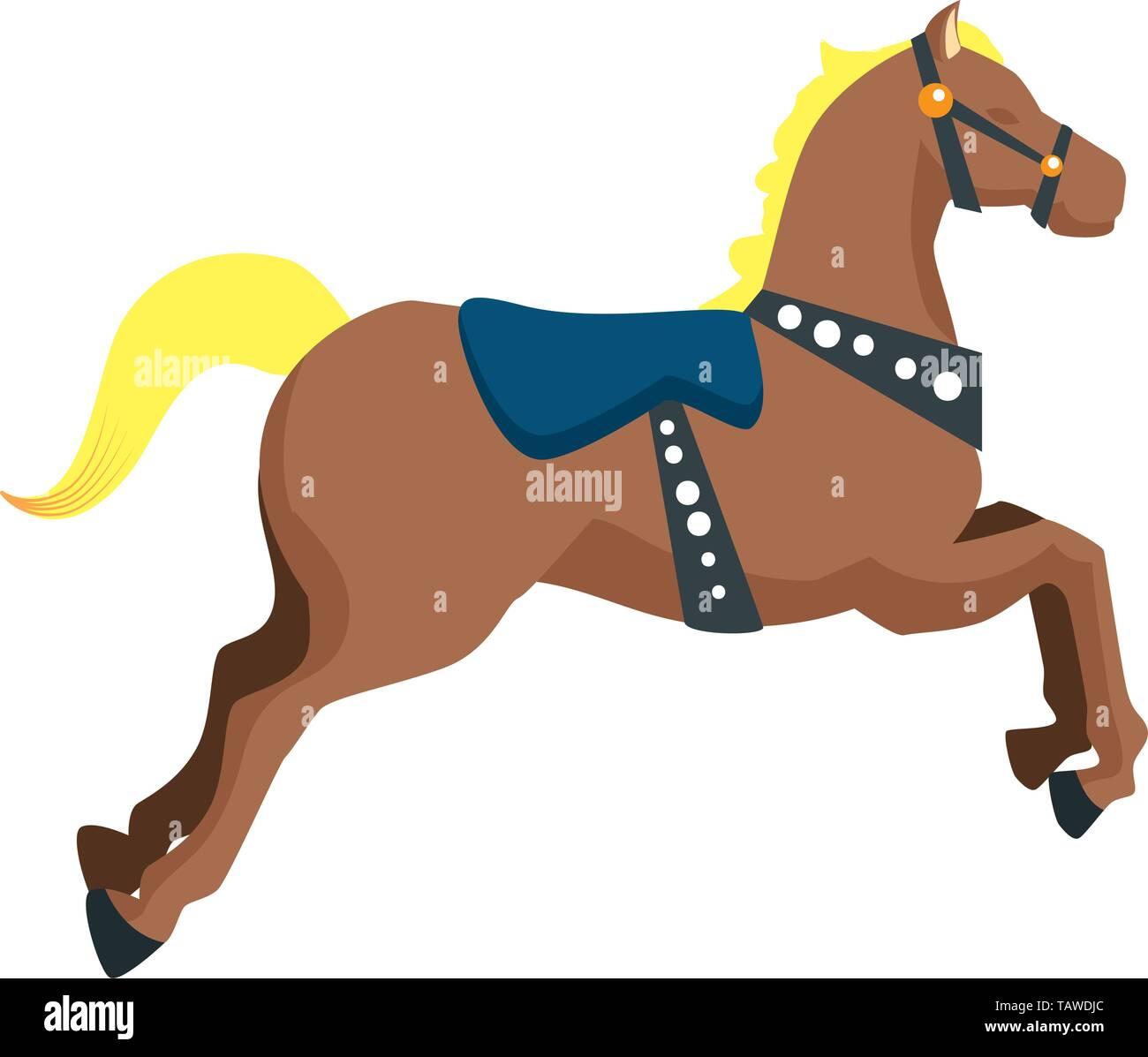 Carousel Horse Carnival Icon Vector Illustration Stock Vector Image Art Alamy