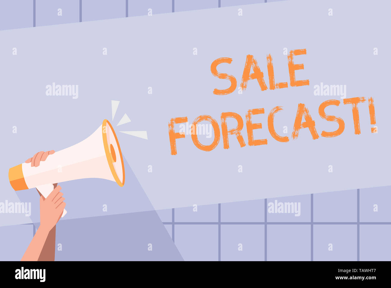 Handwriting text writing Sale Forecast  Conceptual photo the process