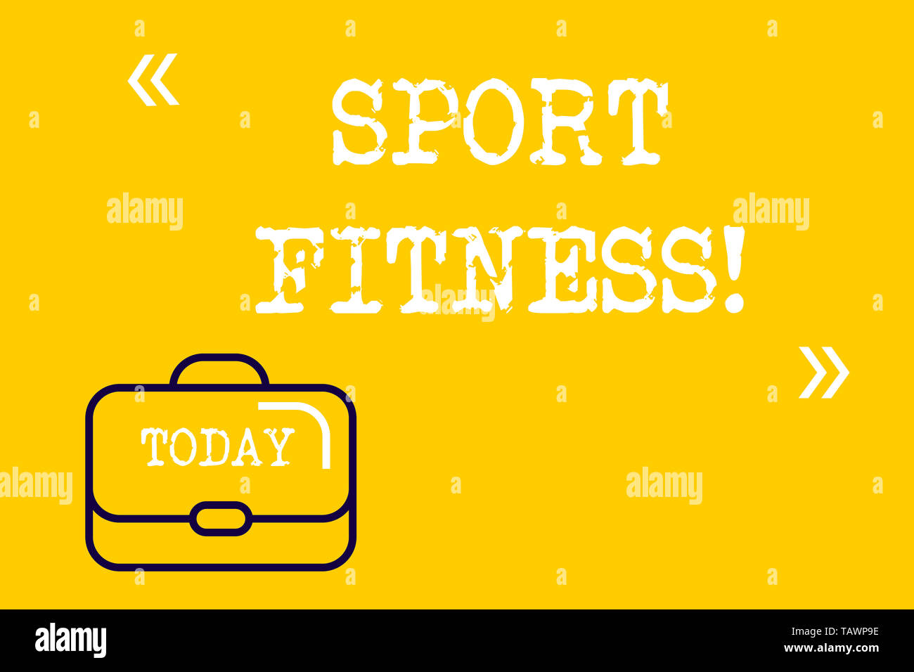 Word writing text Sport Fitness. Business photo showcasing Conditioning athletes for the unique deanalysisds of their sports Brief Case Attache Case a - Stock Image