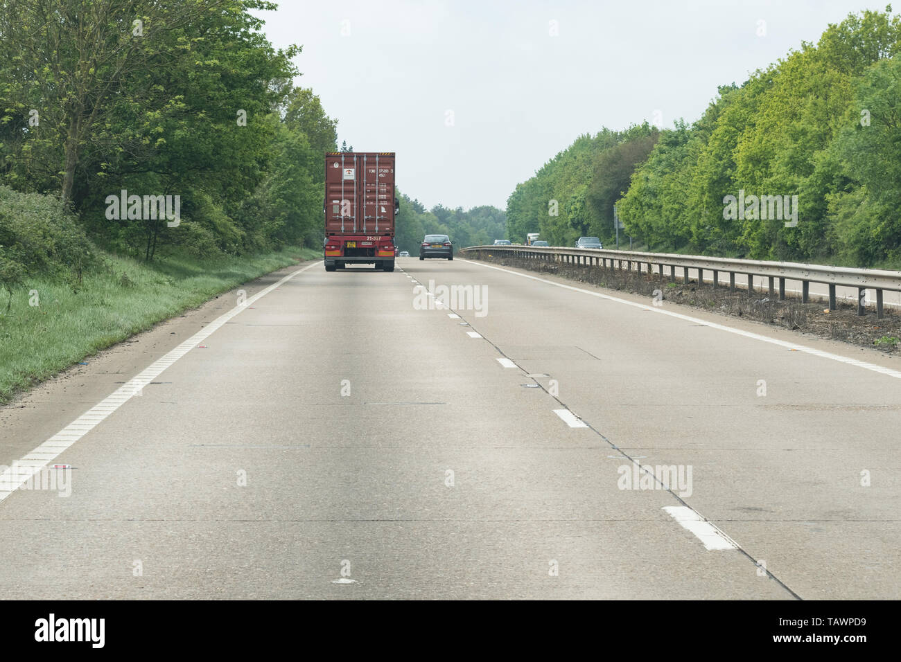 Concrete road surface on a section of the A14  trunk road in England, UK - Stock Image