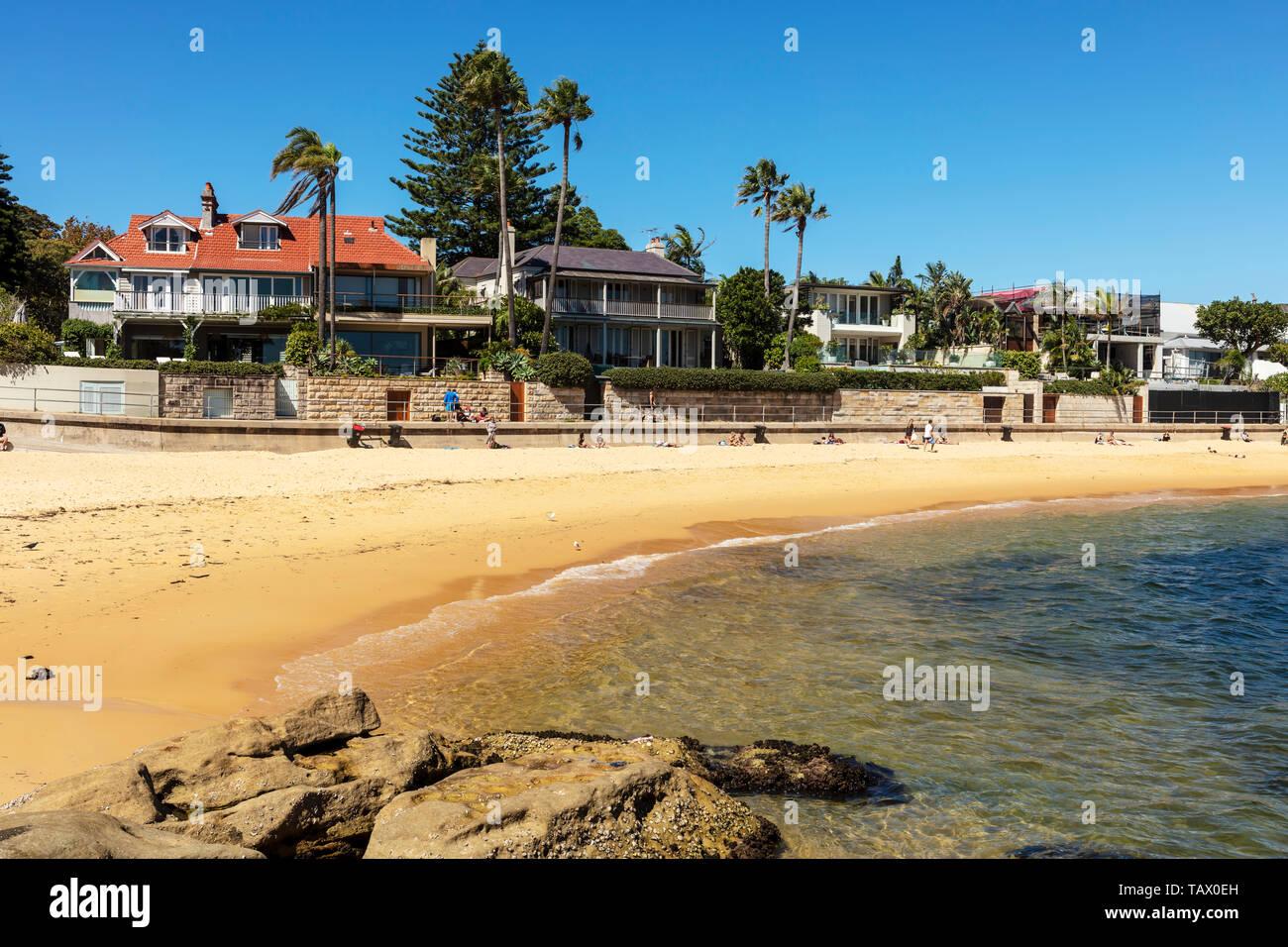 Pristine Camp Cove beach in Watson's Bay near Sydney, Australia. - Stock Image