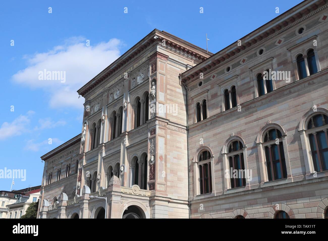 Swedish culture - National Museum building in Stockholm city, Sweden. - Stock Image