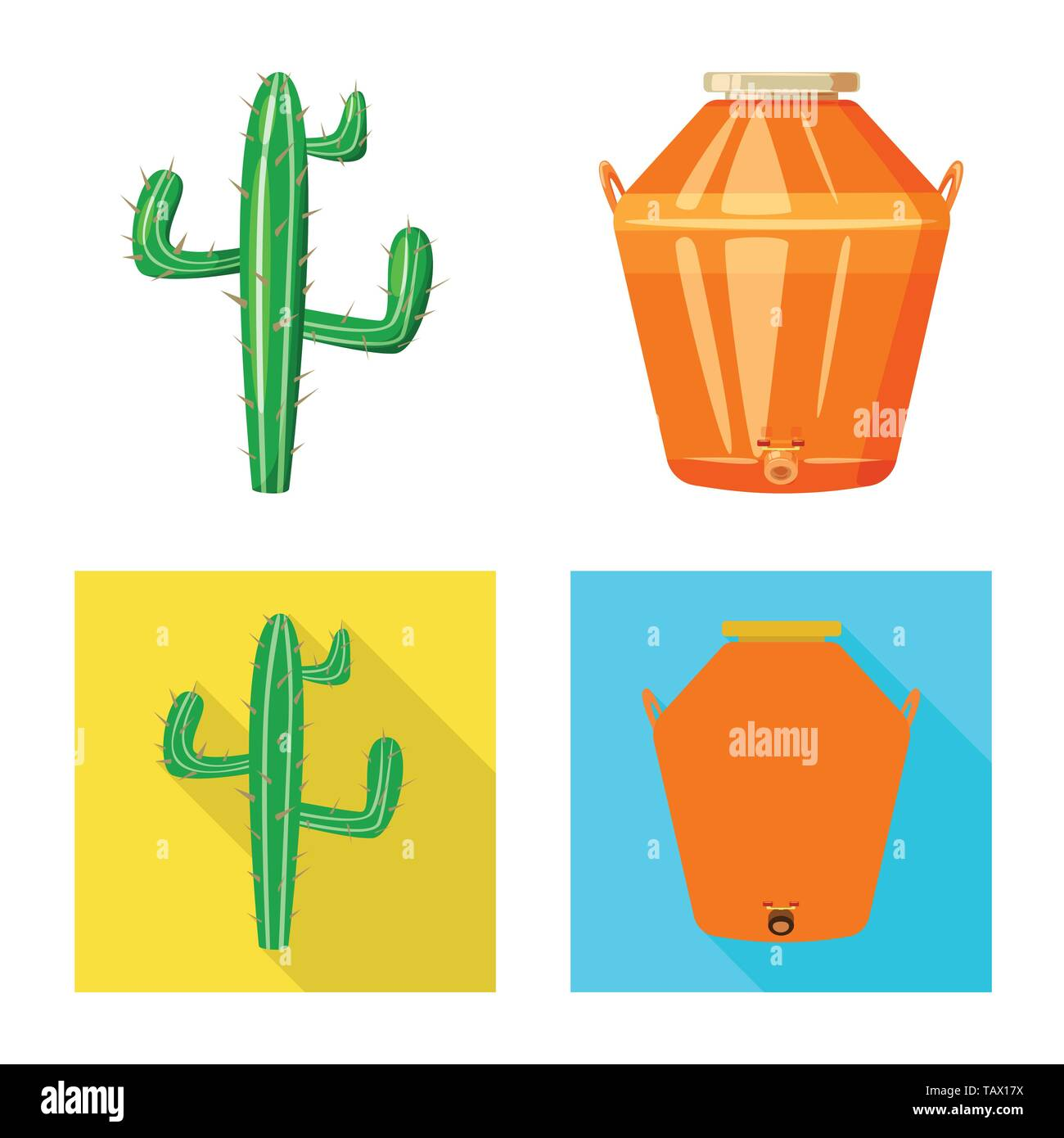 Vector illustration of cafe and Latin sign. Set of cafe and national stock vector illustration. - Stock Image