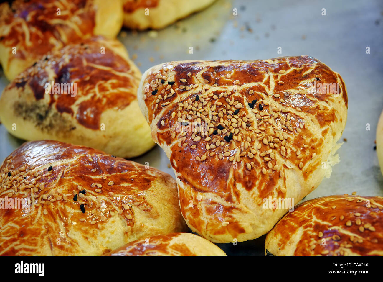 Delicious Savory Pastry Food For Breakfast Snack - Stock Image