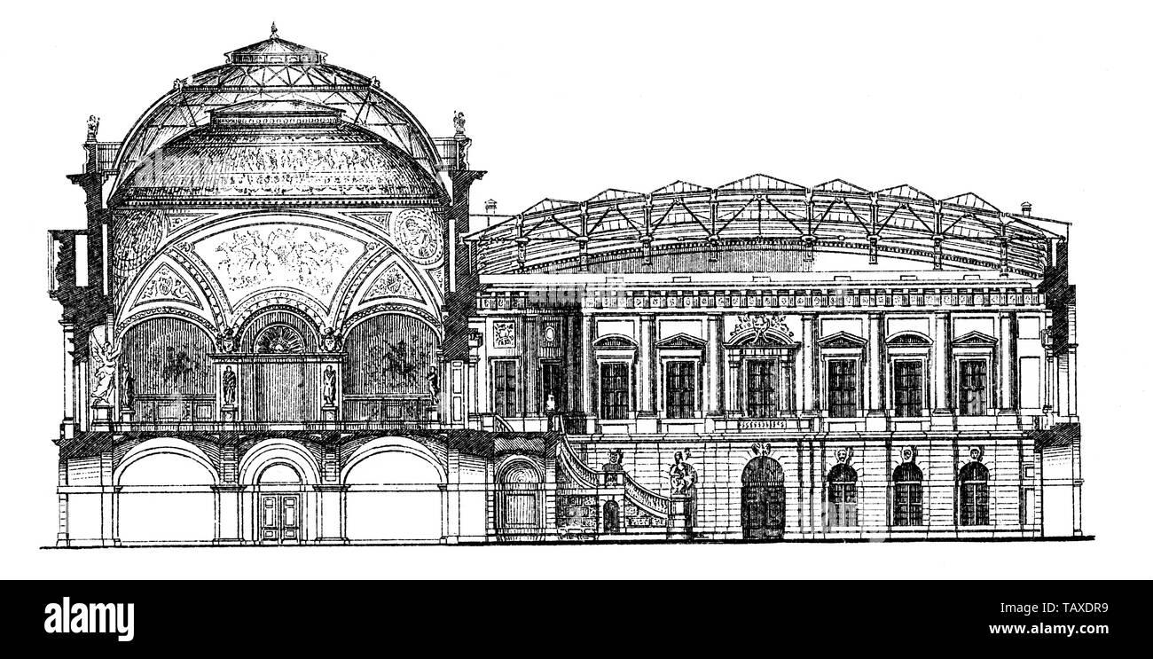 Zeughaus, heute das Deutsche Historische Museum, 19. Jahrhundert, aus Meyers Konversations-Lexikon, 1889, Berlin, Deutschland, Europa - Stock Image