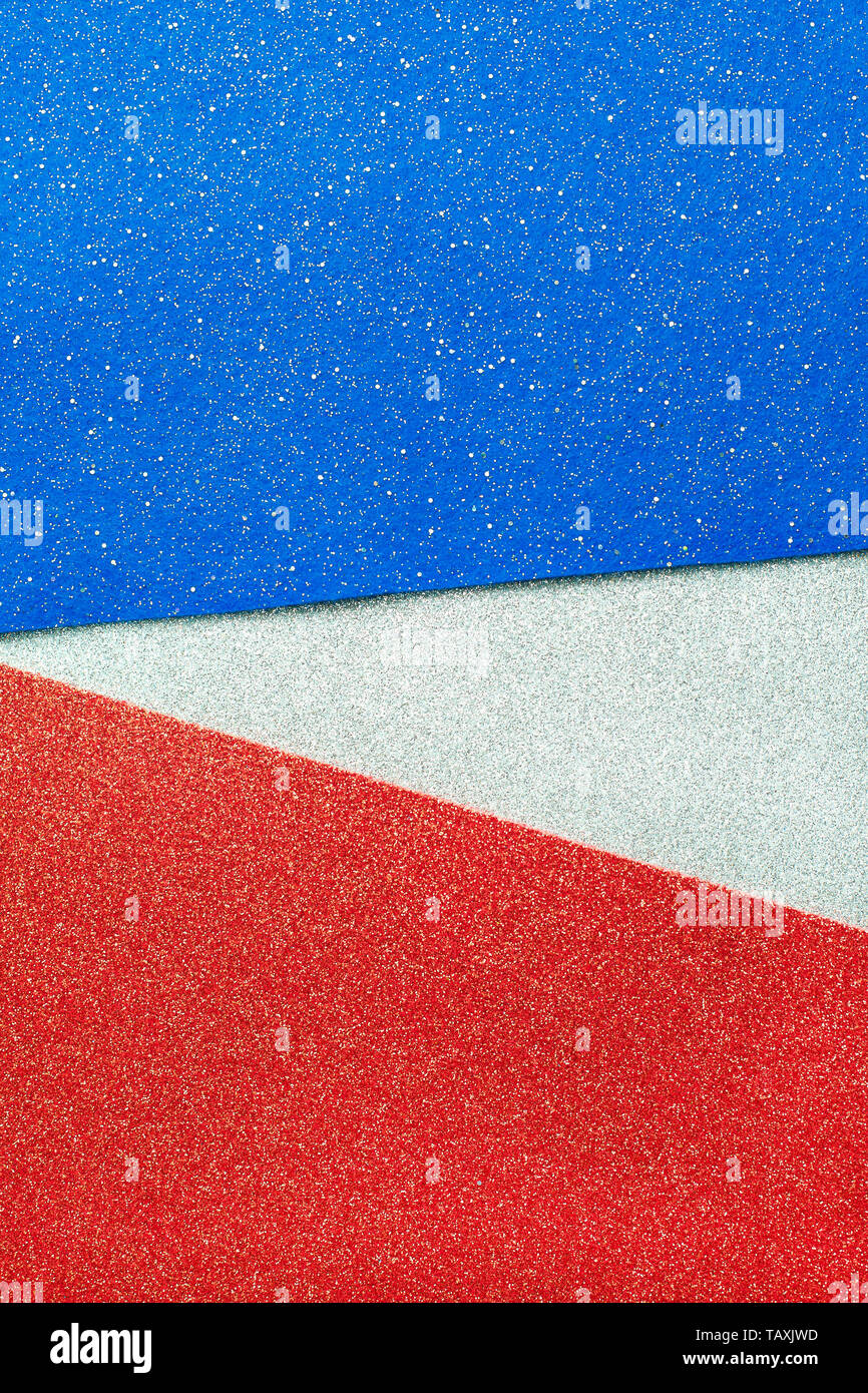 Abstract Patriotic Red White And Blue Glitter Sparkle