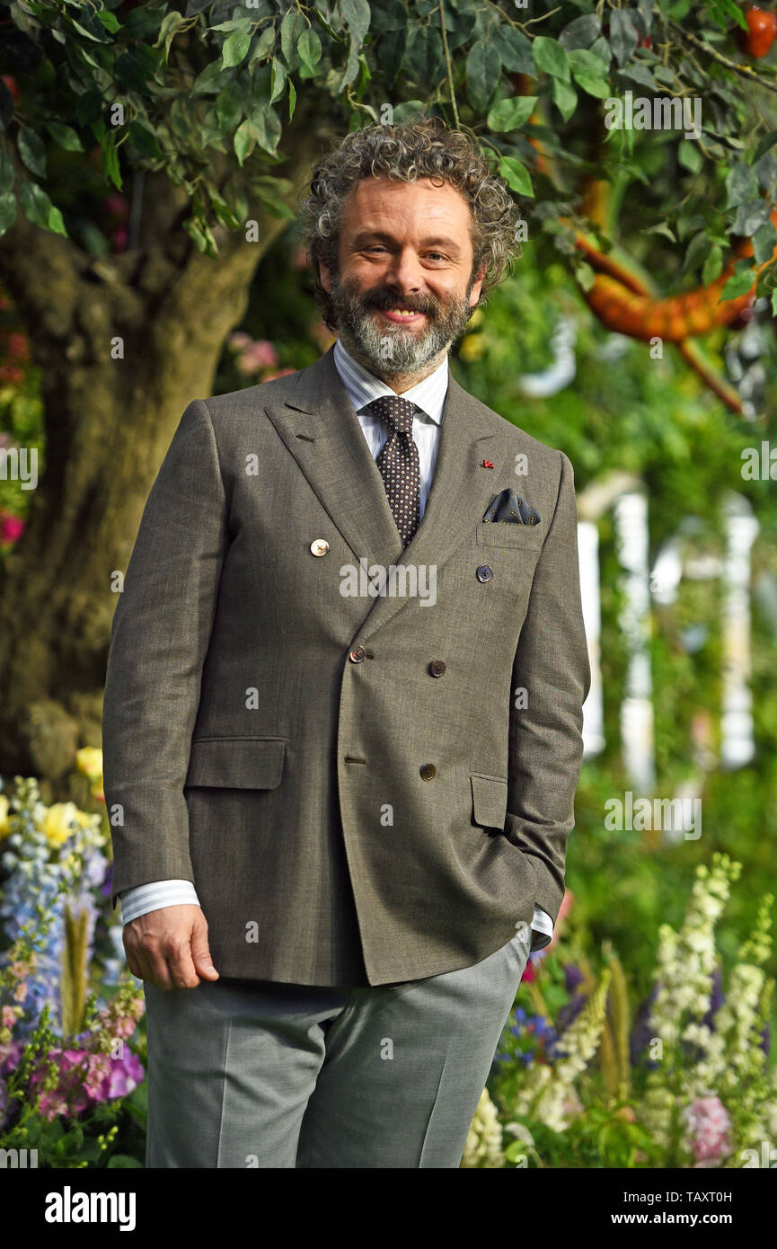 Michael Sheen attending the premiere of Good Omens at the Odeon Luxe Leicester Square, central London. - Stock Image