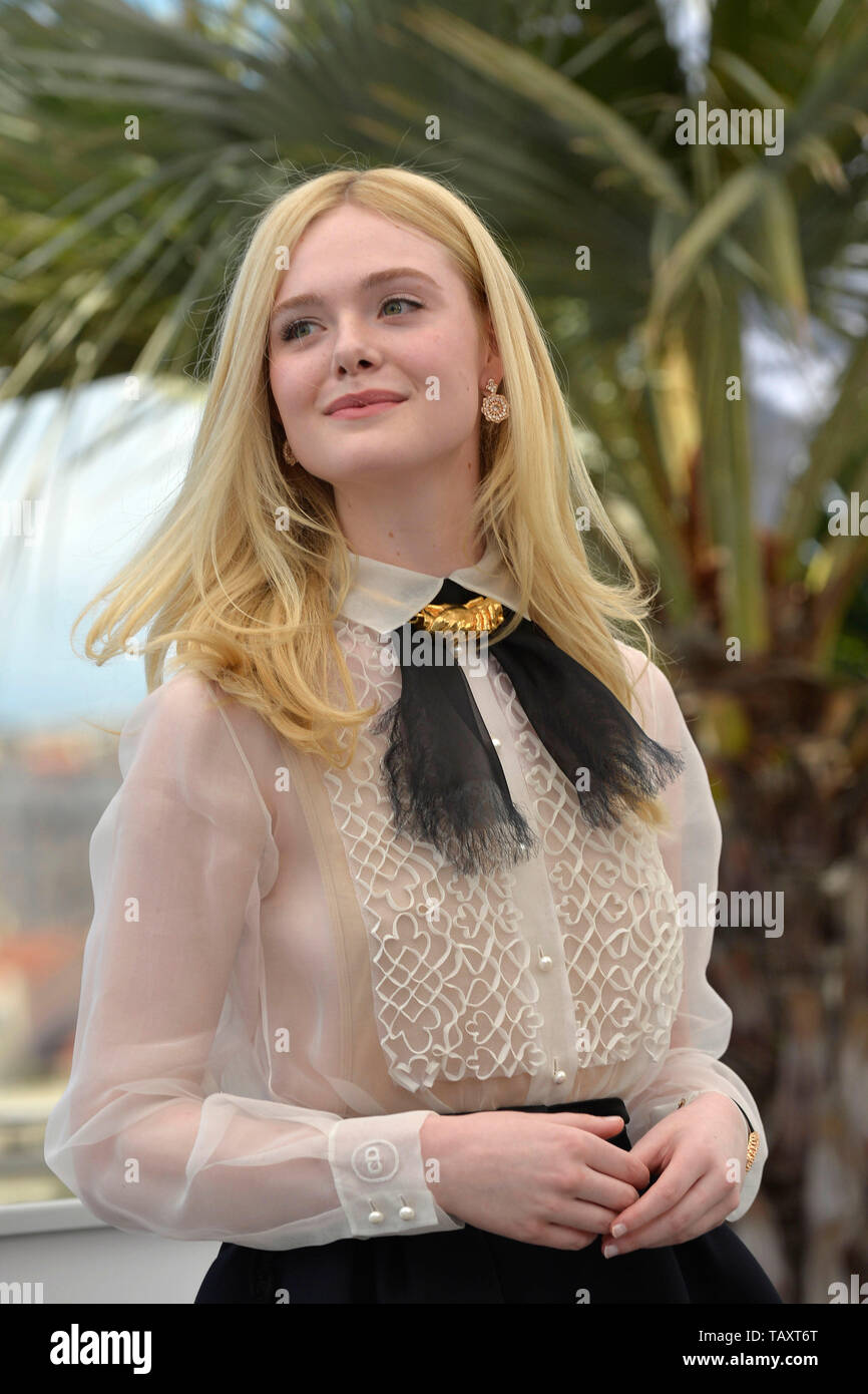 72nd edition of the Cannes Film Festival. The official jury members posing during a photocall: Elle Fanning on May 14, 2019 - Stock Image