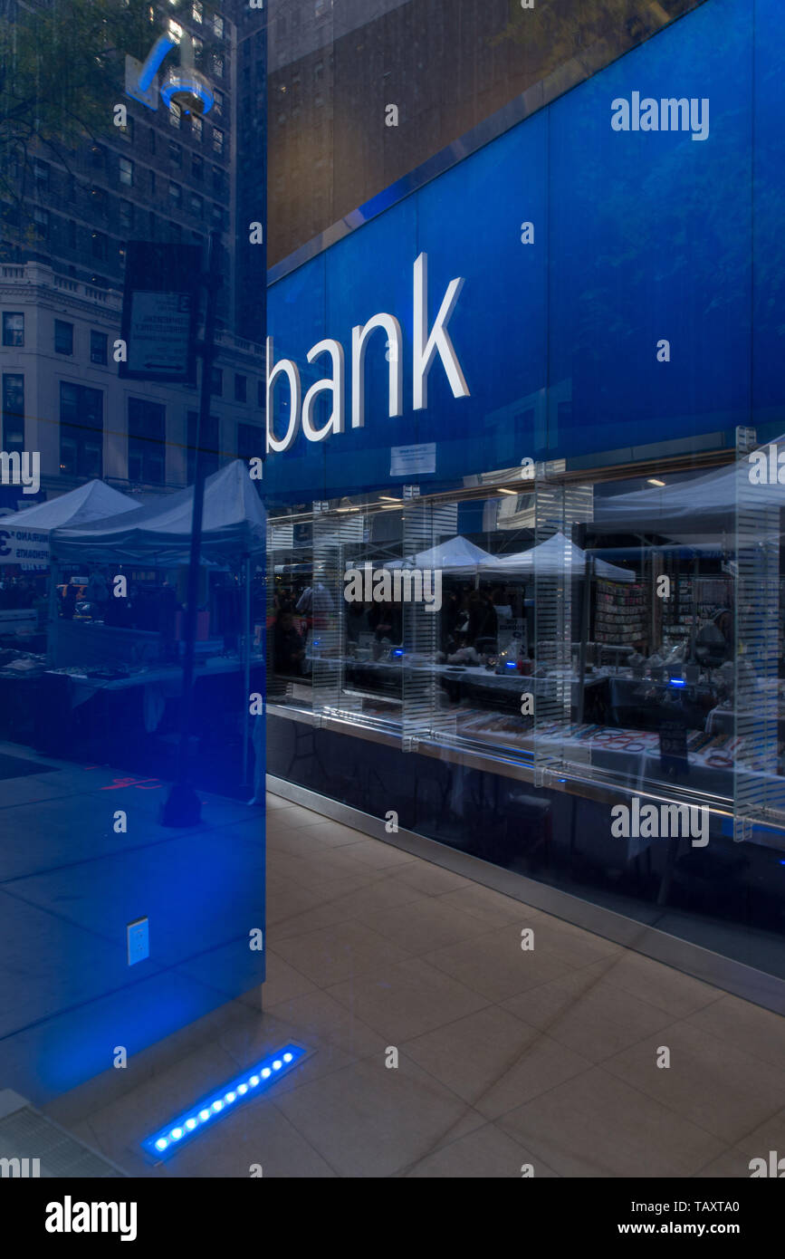 Branch of CITIBANK, Manhattan, New-York, USA. - Stock Image