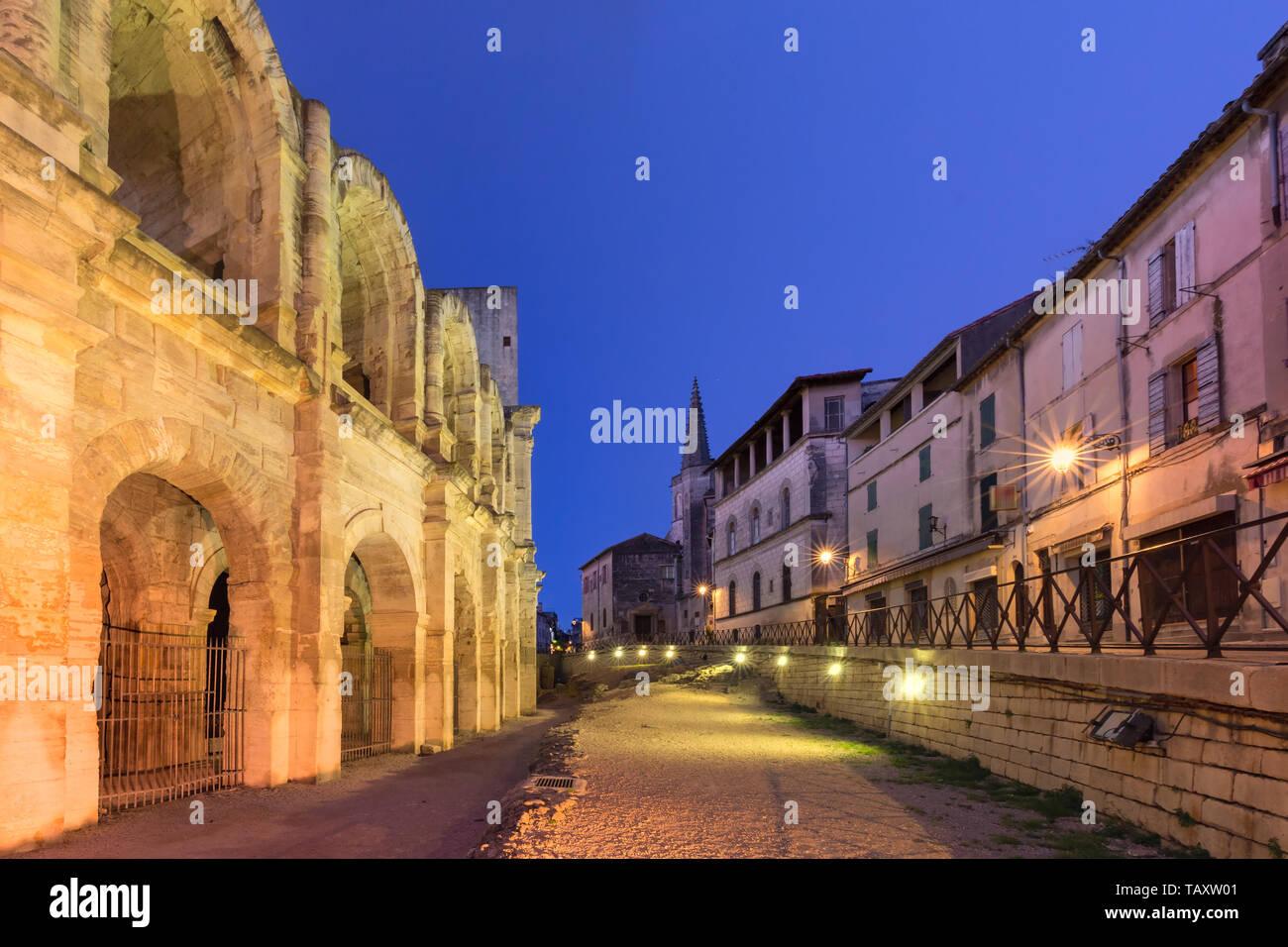 Arles Amphitheatre, France Stock Photo